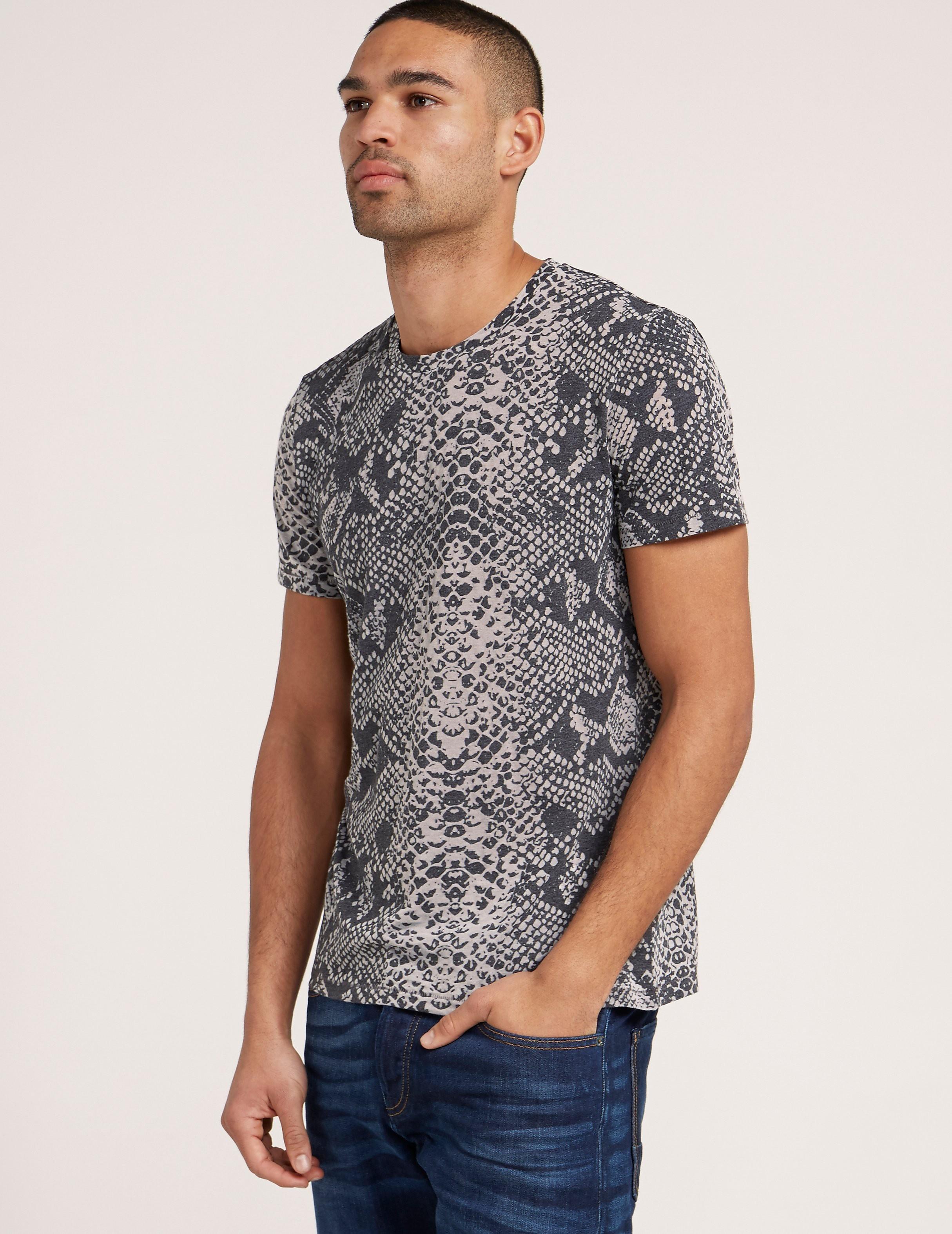 Just Cavalli Snake Short Sleeve T-Shirt