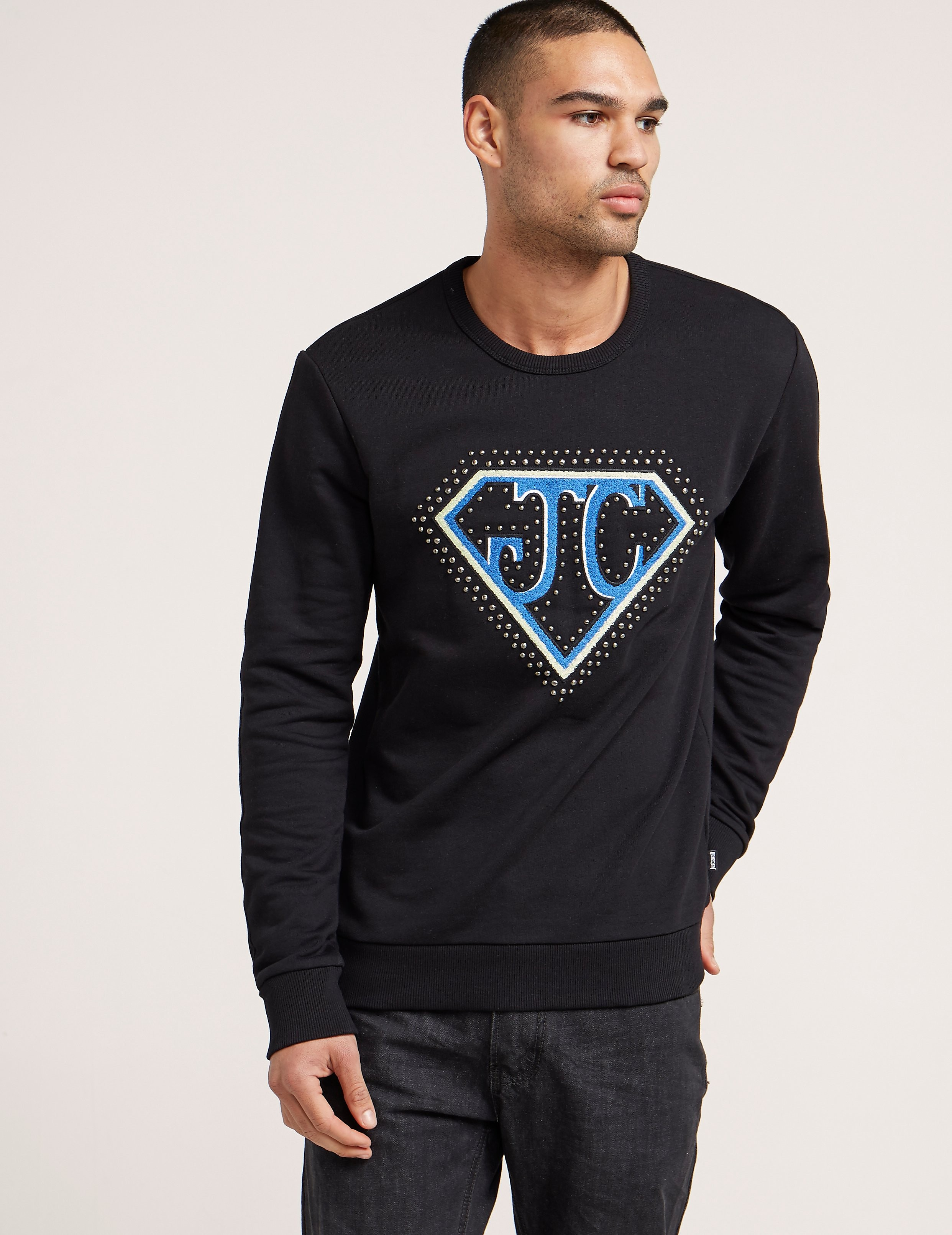 Just Cavalli Chest Logo Sweatshirt