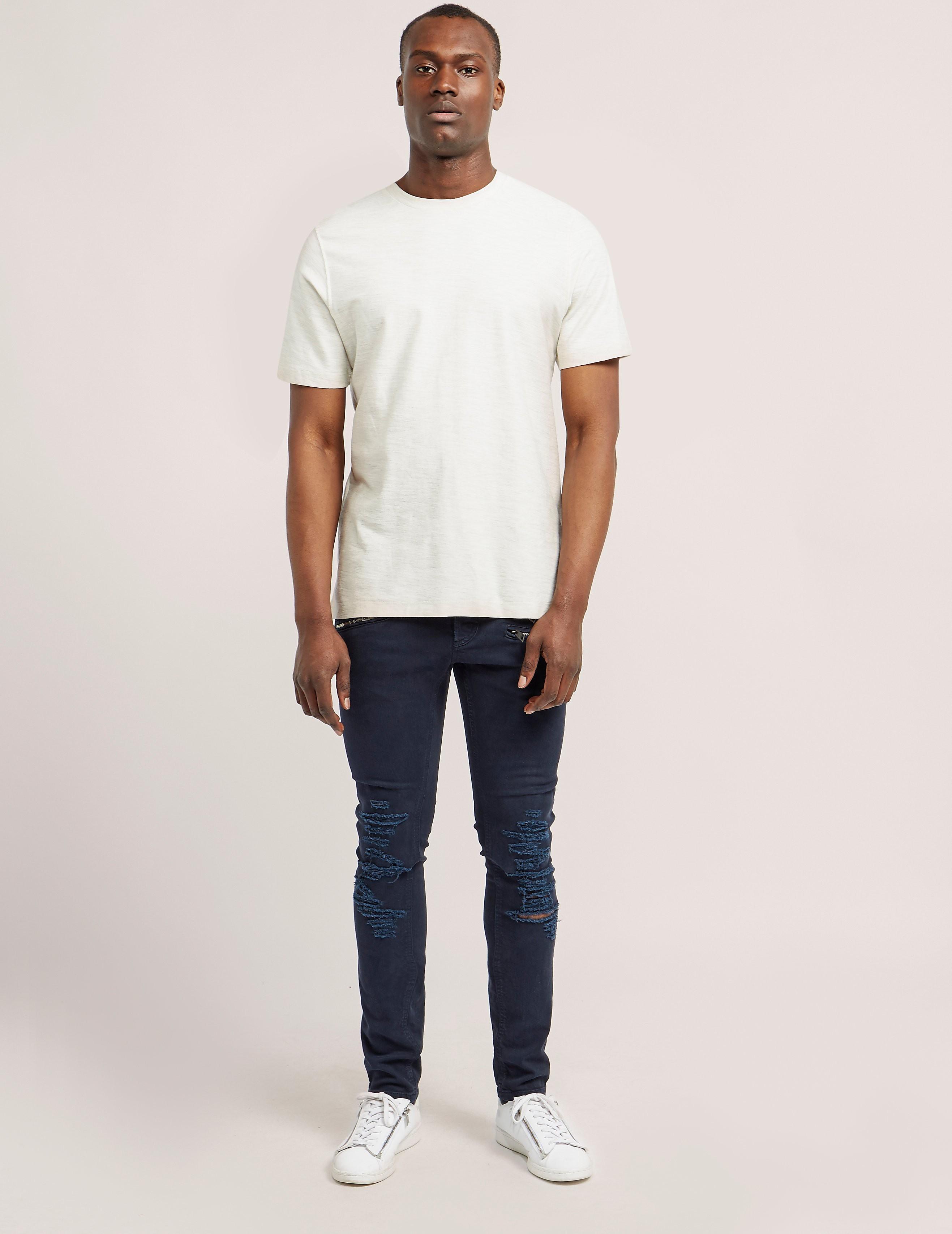 Just Cavalli Distressed Zip Jeans
