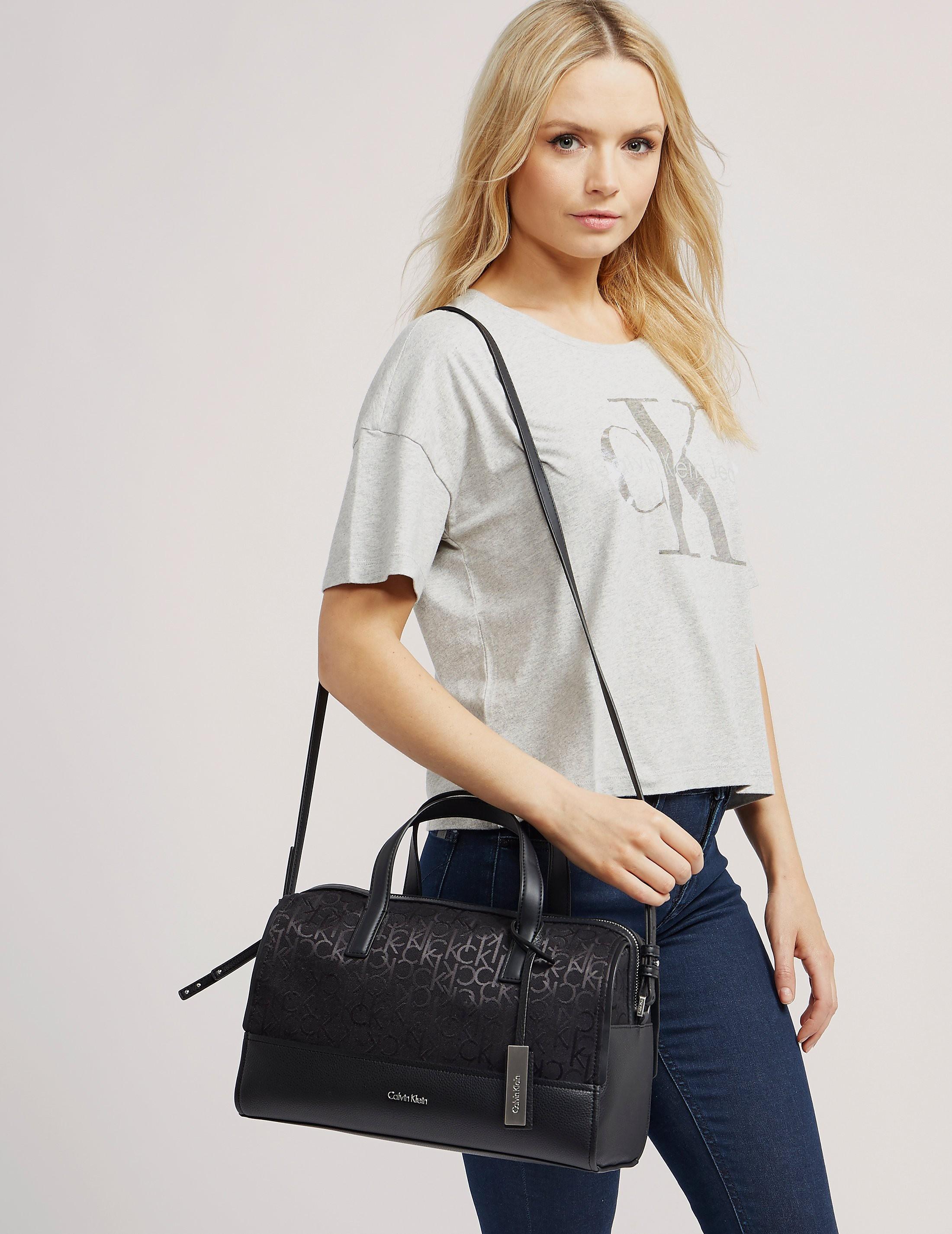 Calvin Klein Logo Jacquard Duffle Bag