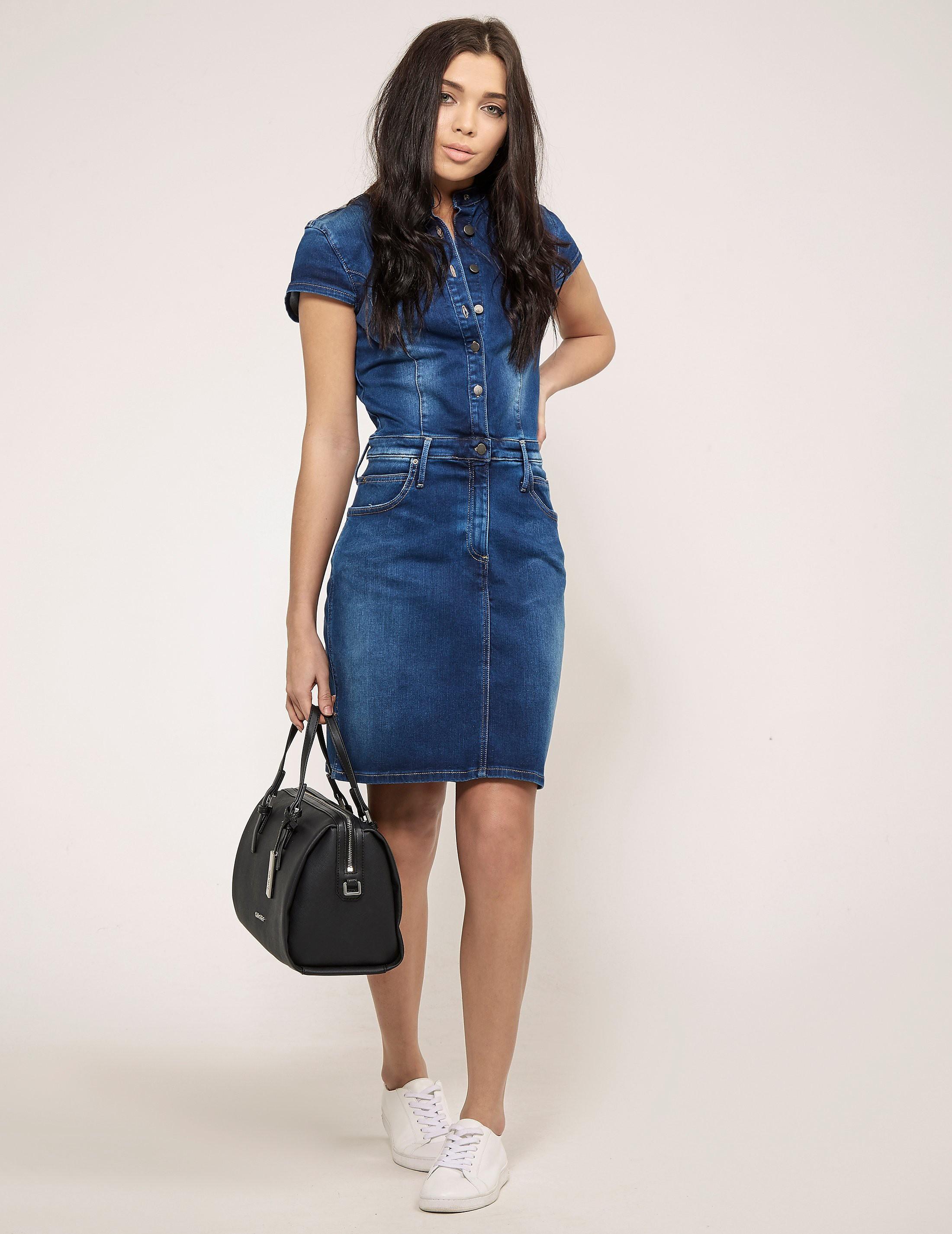 Calvin Klein Sculpted Denim Dress