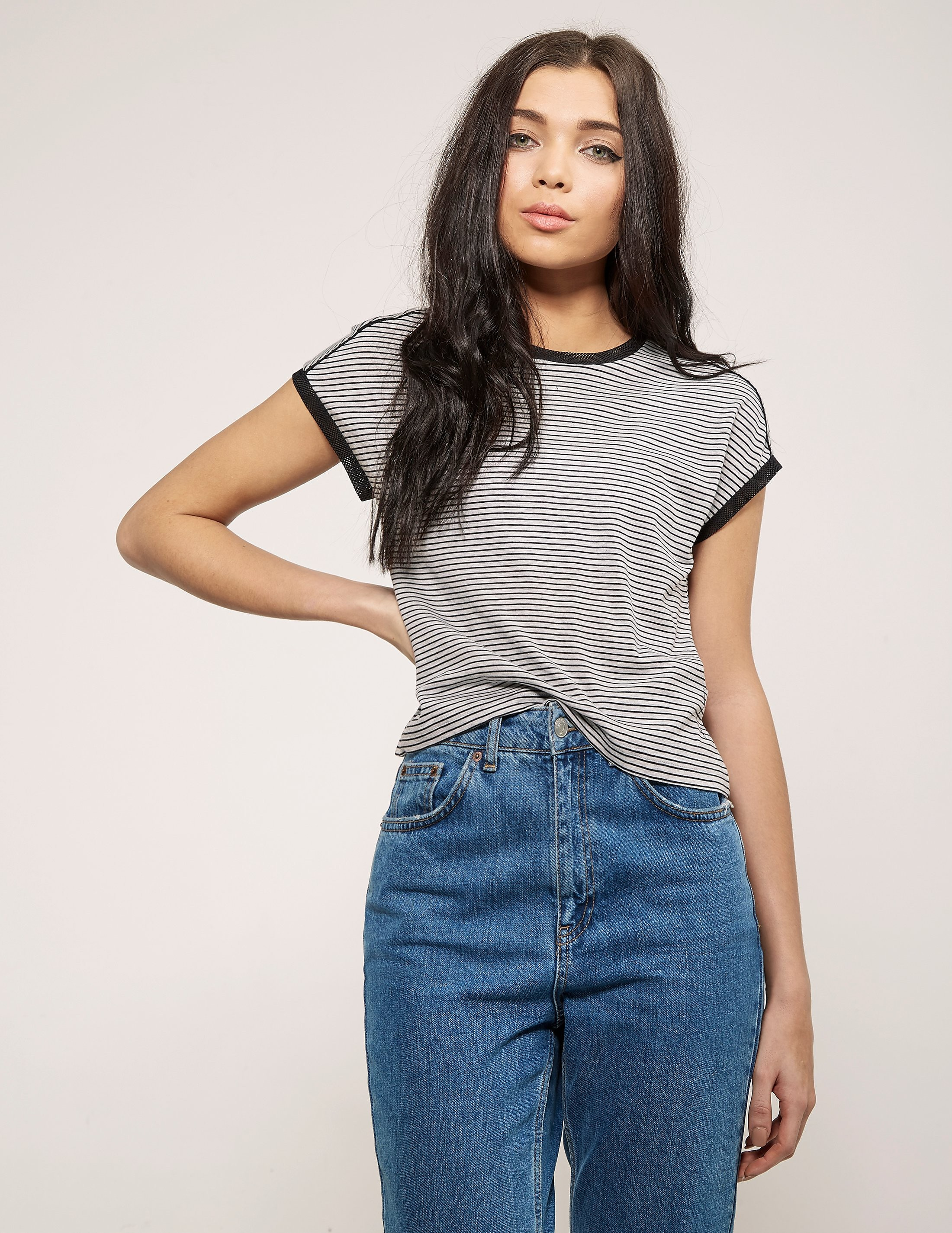 Calvin Klein Loretta Stripe Short Sleeve T-Shirt