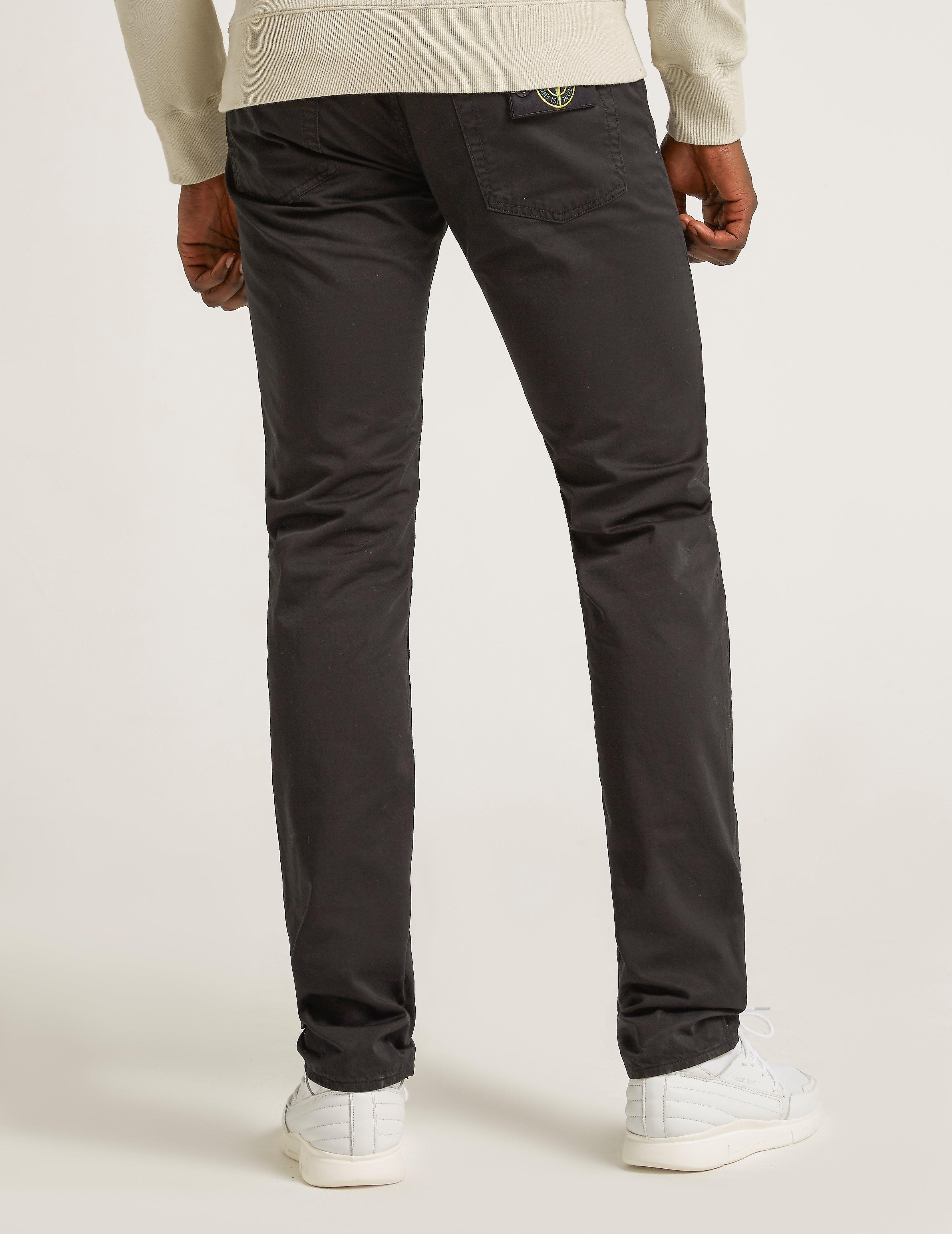 Stone Island Slim Satine Gabardine Jeans