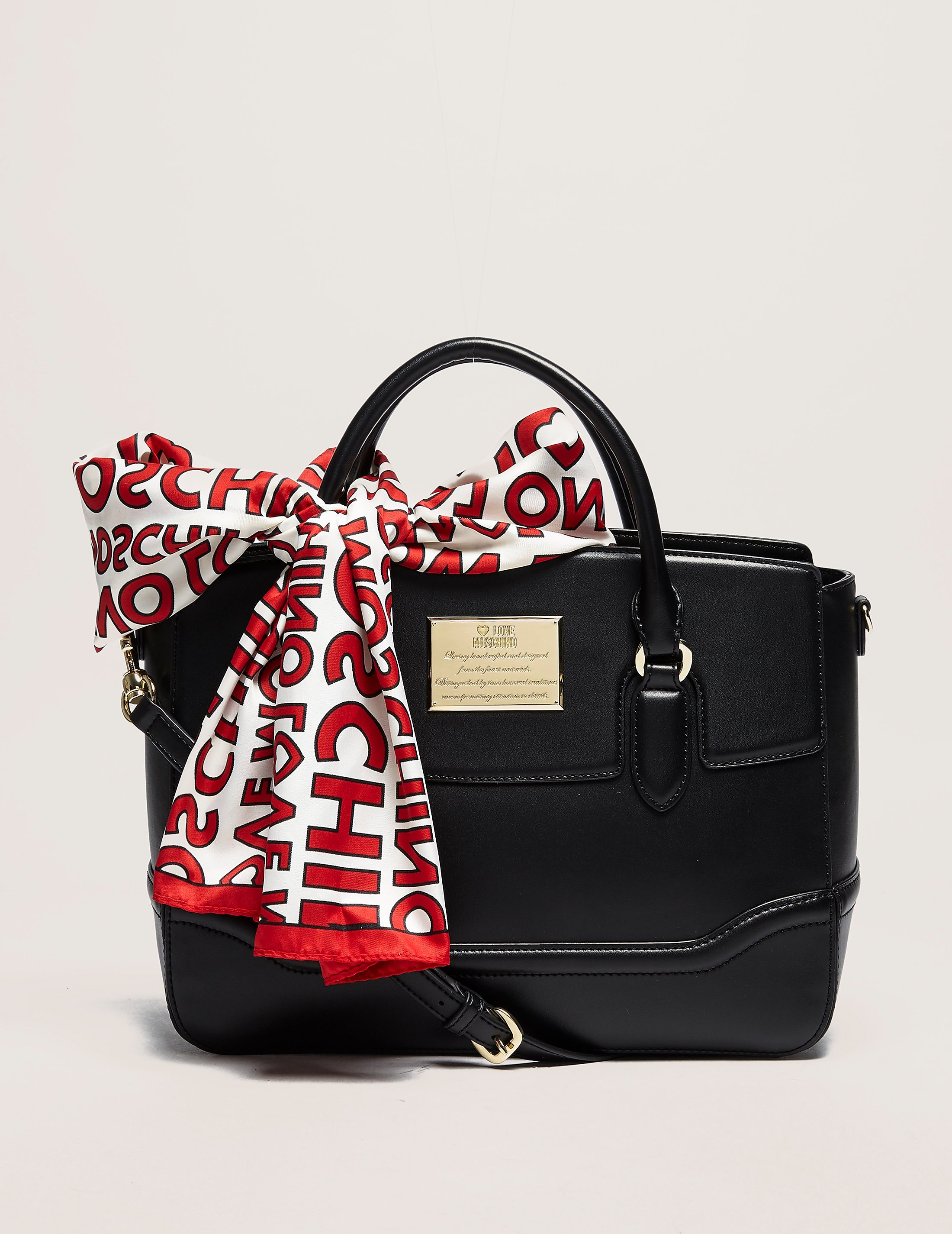 Love Moschino Scarf Tote Bag