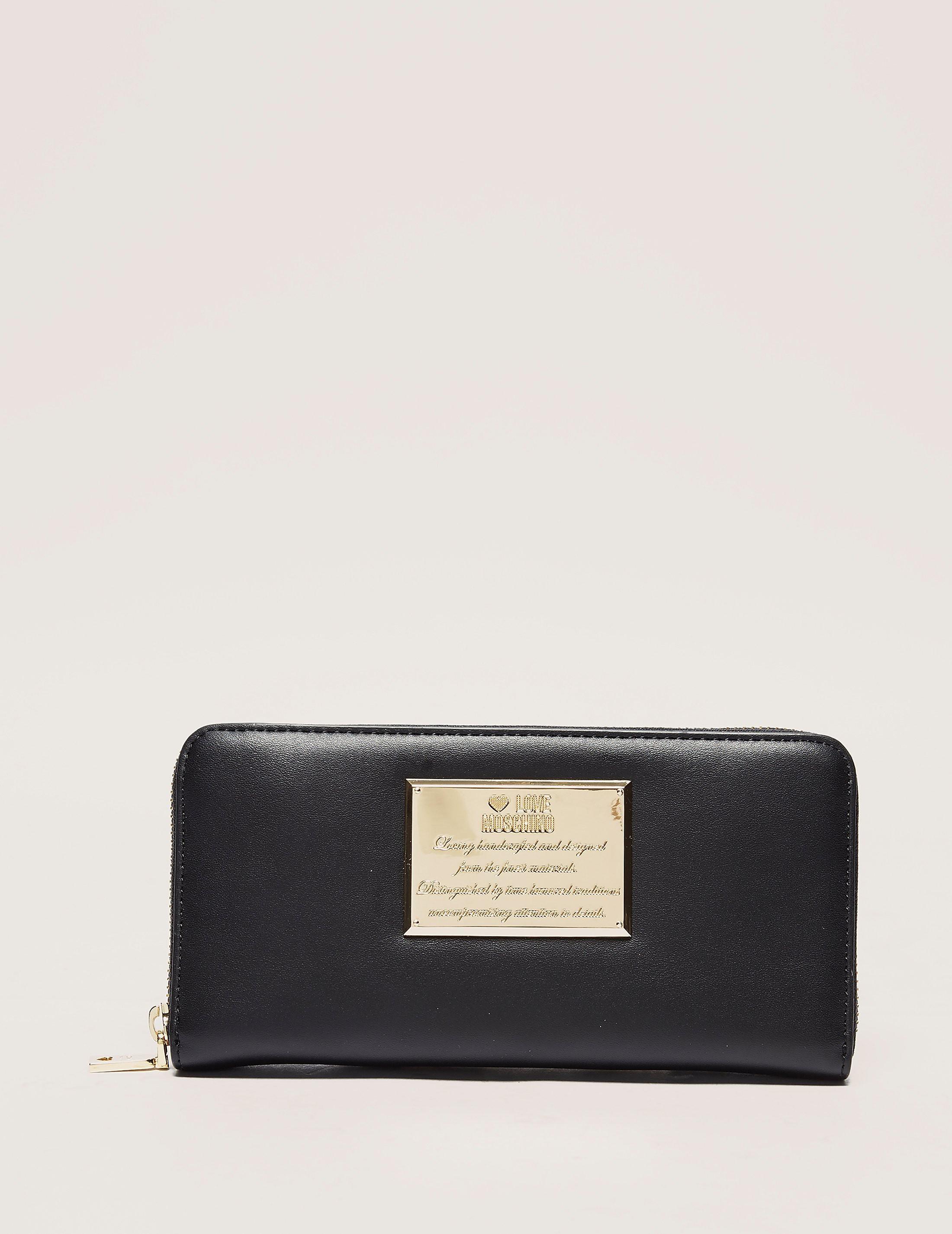 Love Moschino Plaque Wallet