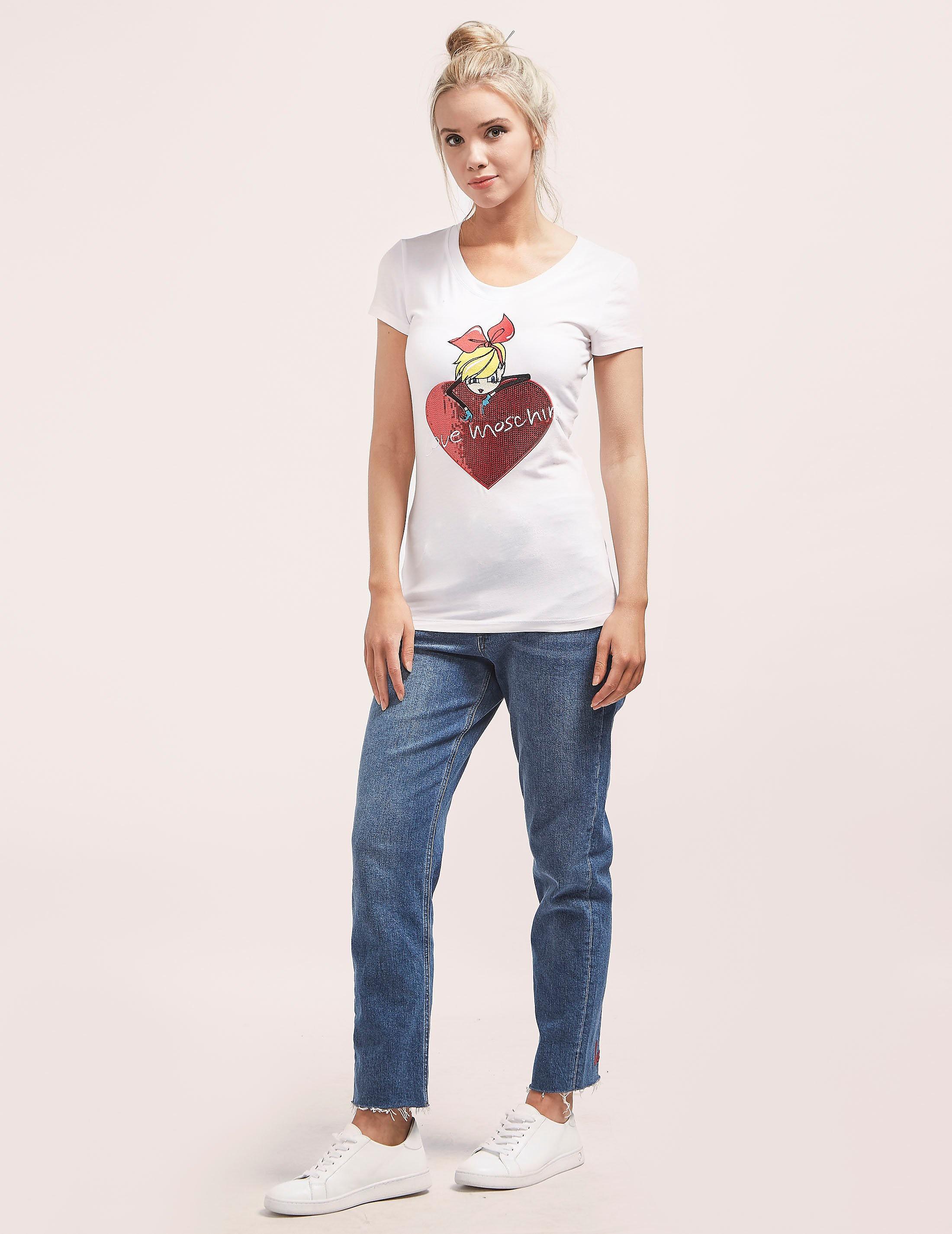 Love Moschino Doll Heart T-Shirt