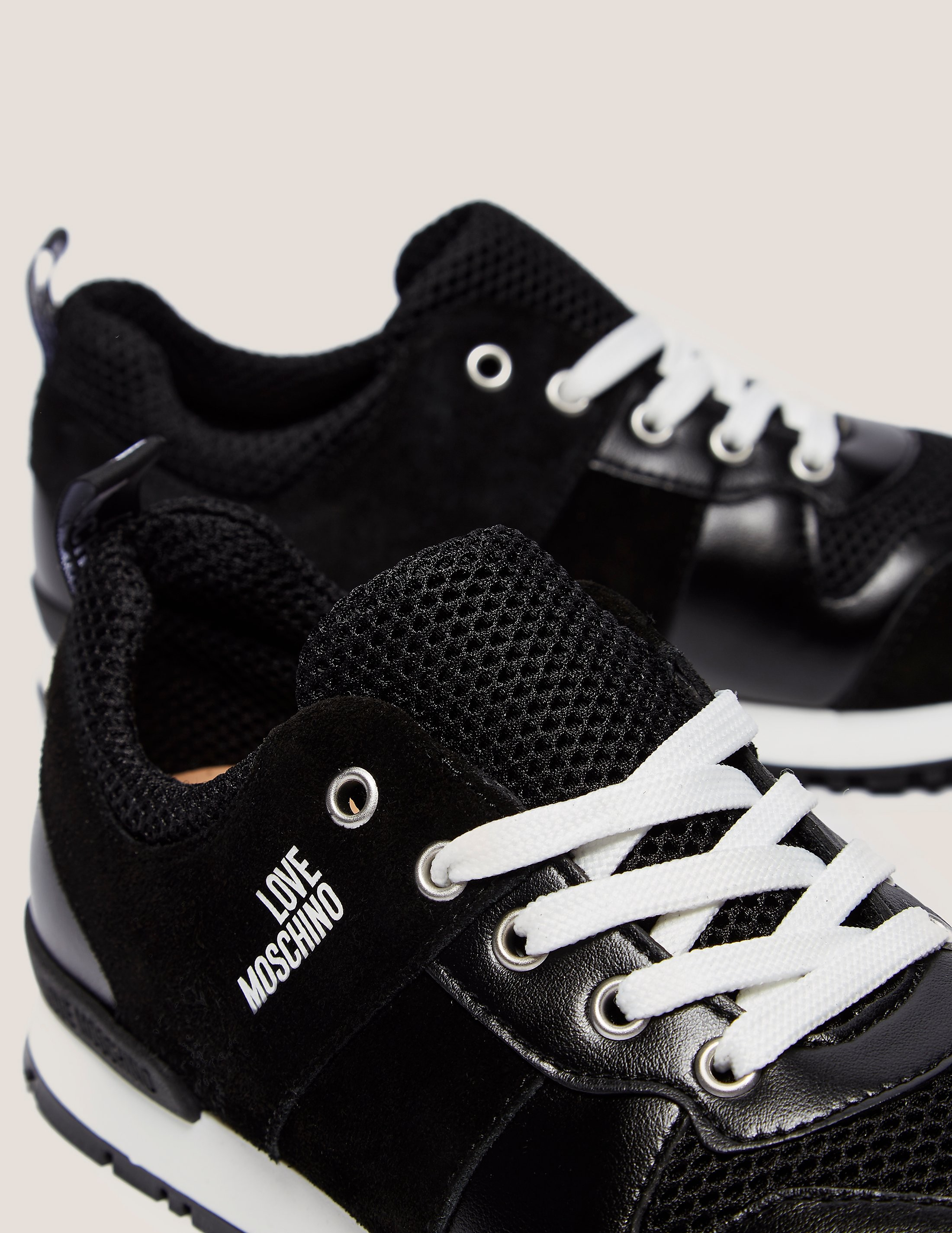 Love Moschino Leather Mesh Trainer