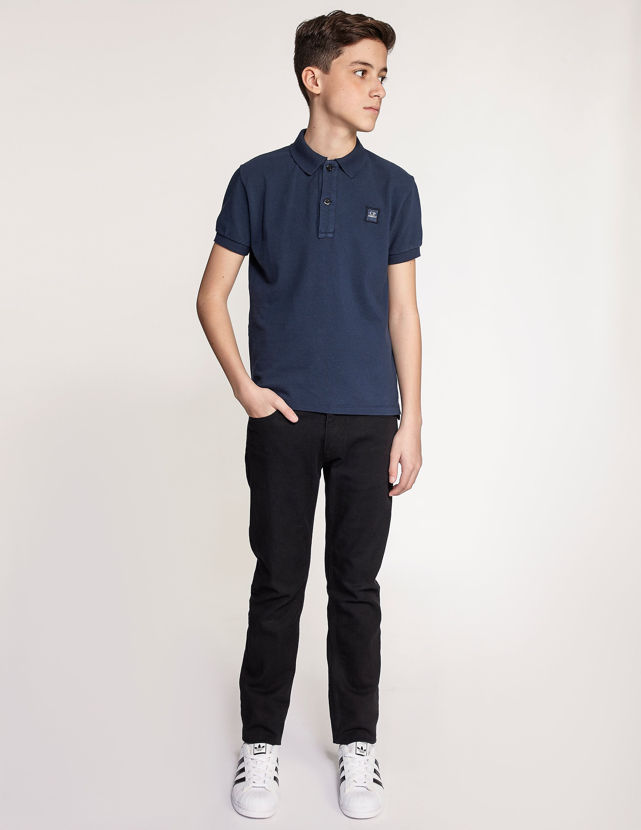 CP Company Patch Logo Polo Shirt