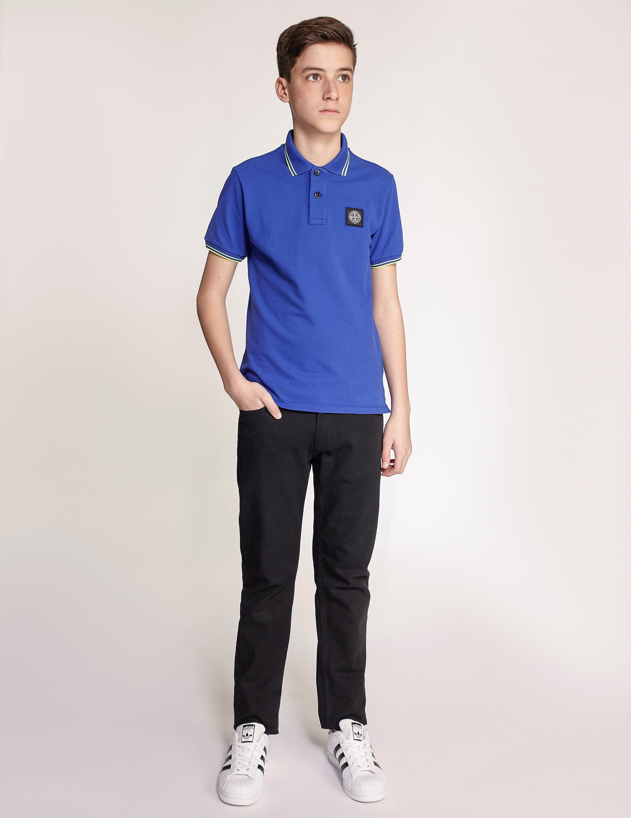 Stone Island Short Sleeve Tipped Polo Shirt
