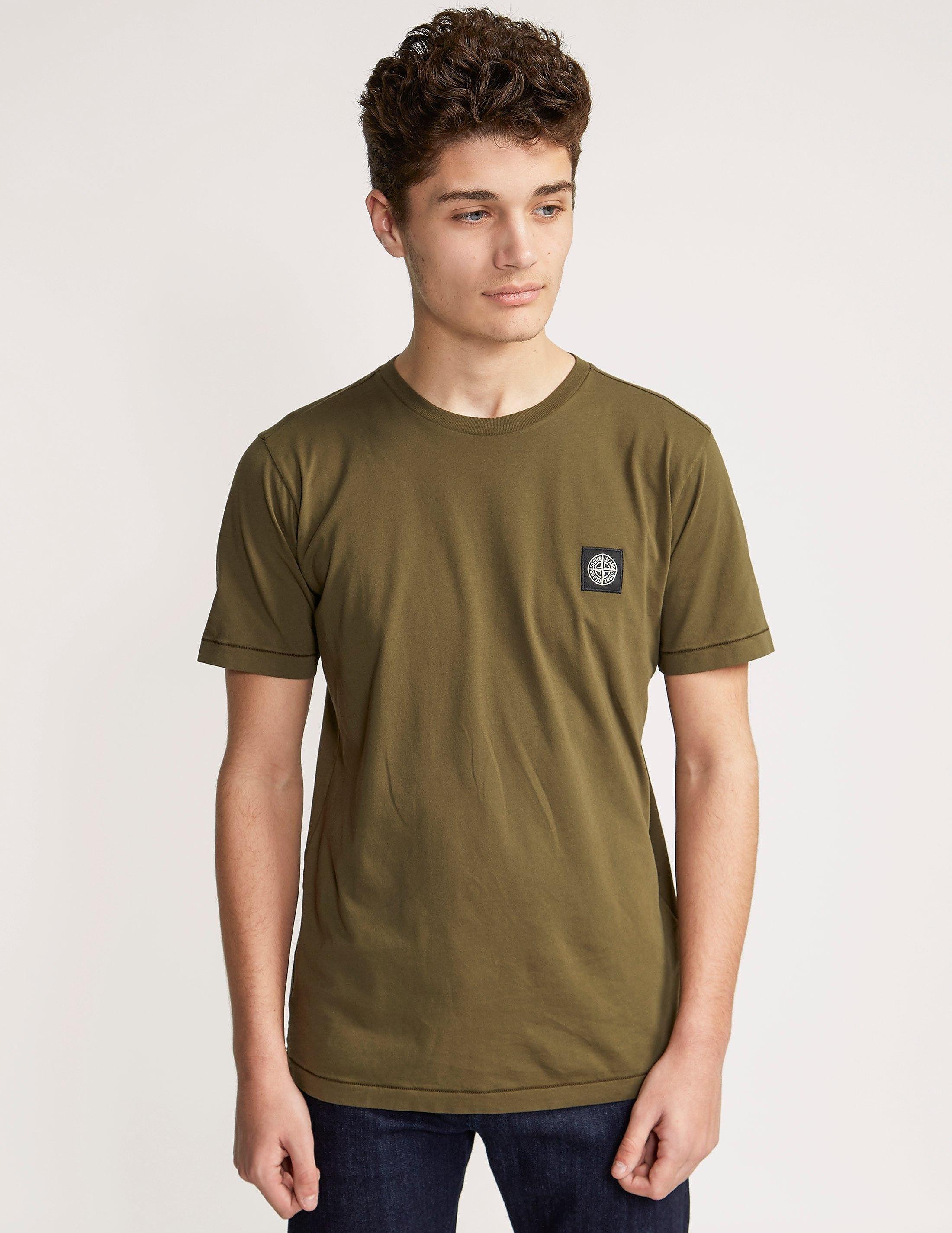 Stone Island Patch Logo Short Sleeve T-Shirt
