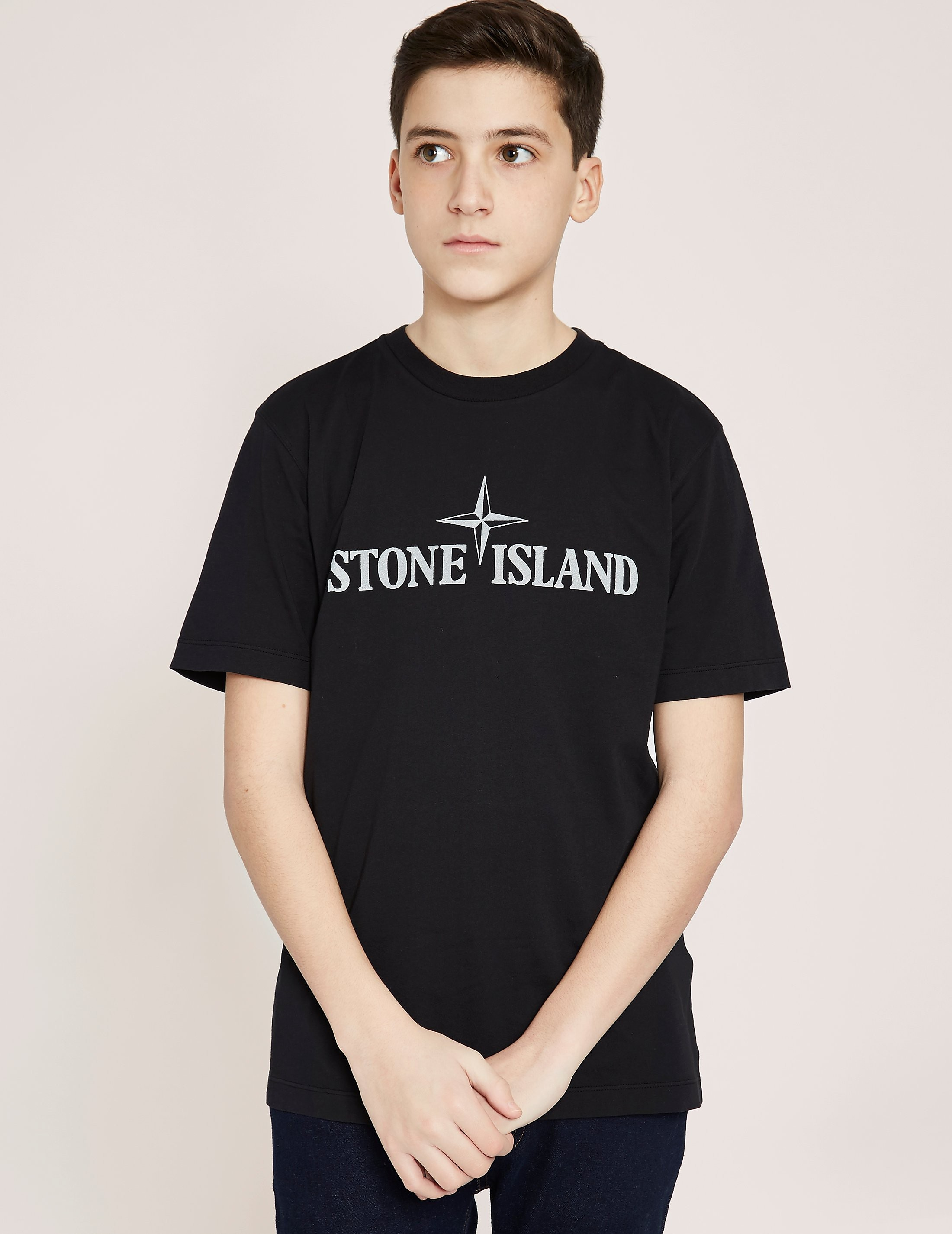 Stone Island Large Logo Short Sleeve T-Shirt