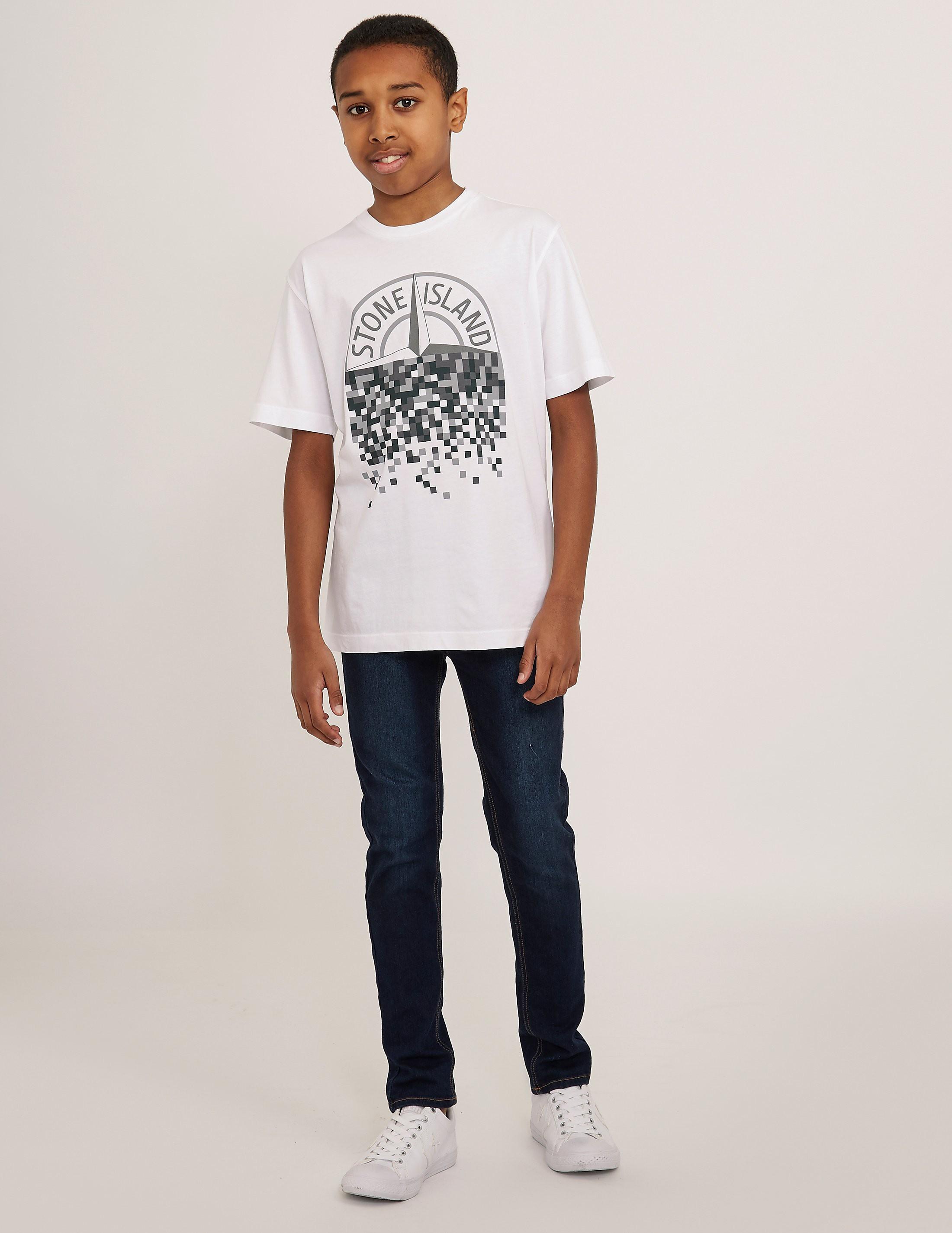 Stone Island Pixel Logo Short Sleeve T-Shirt