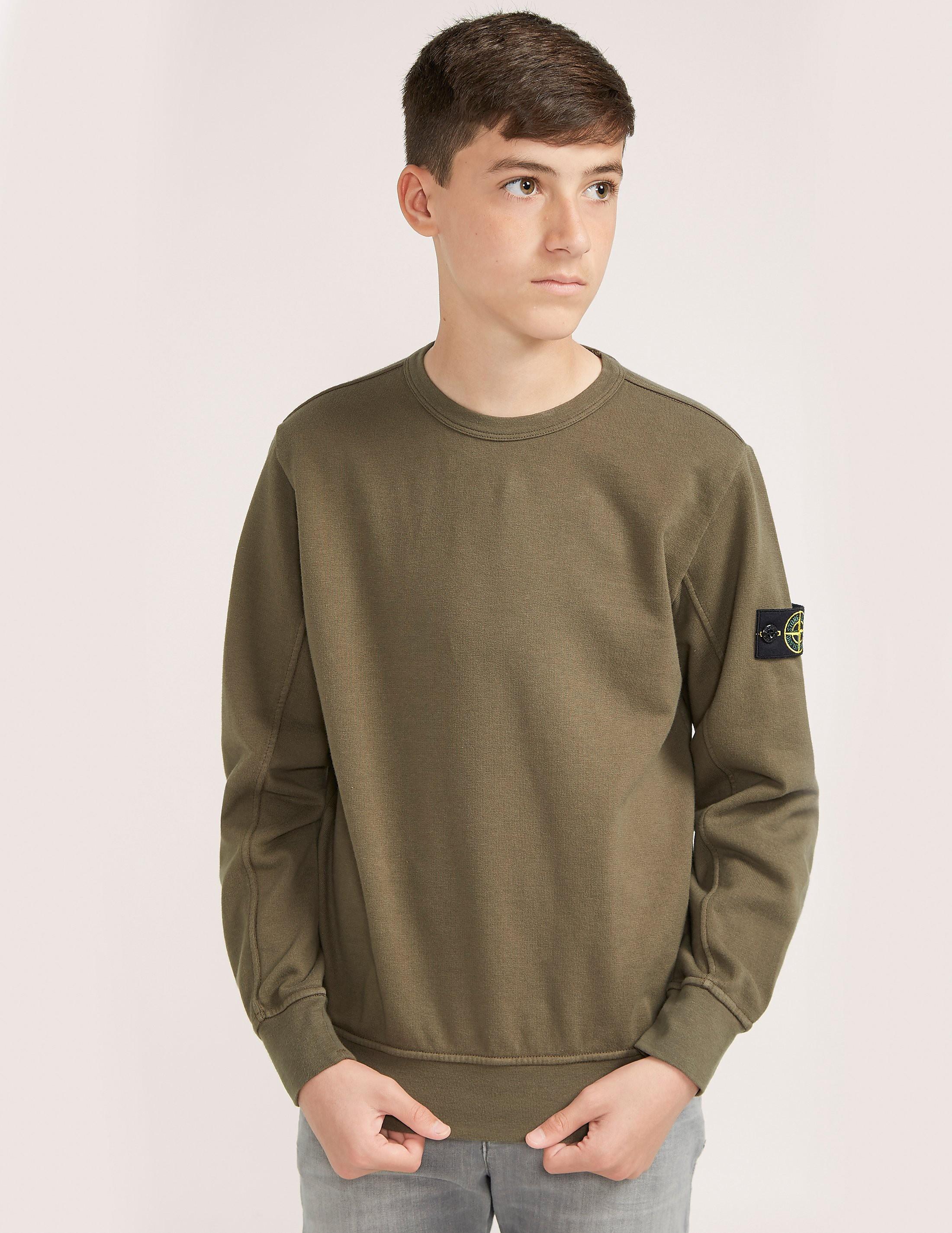 Stone Island Badge Crew Neck Sweatshirt