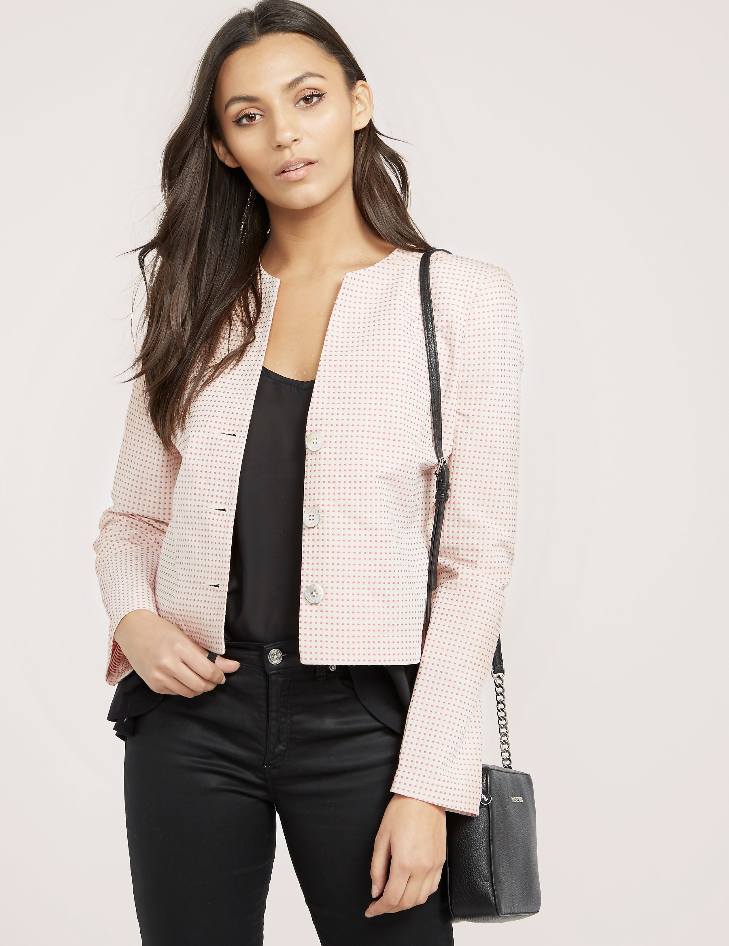Armani Jeans Dotted Cropper Jacket