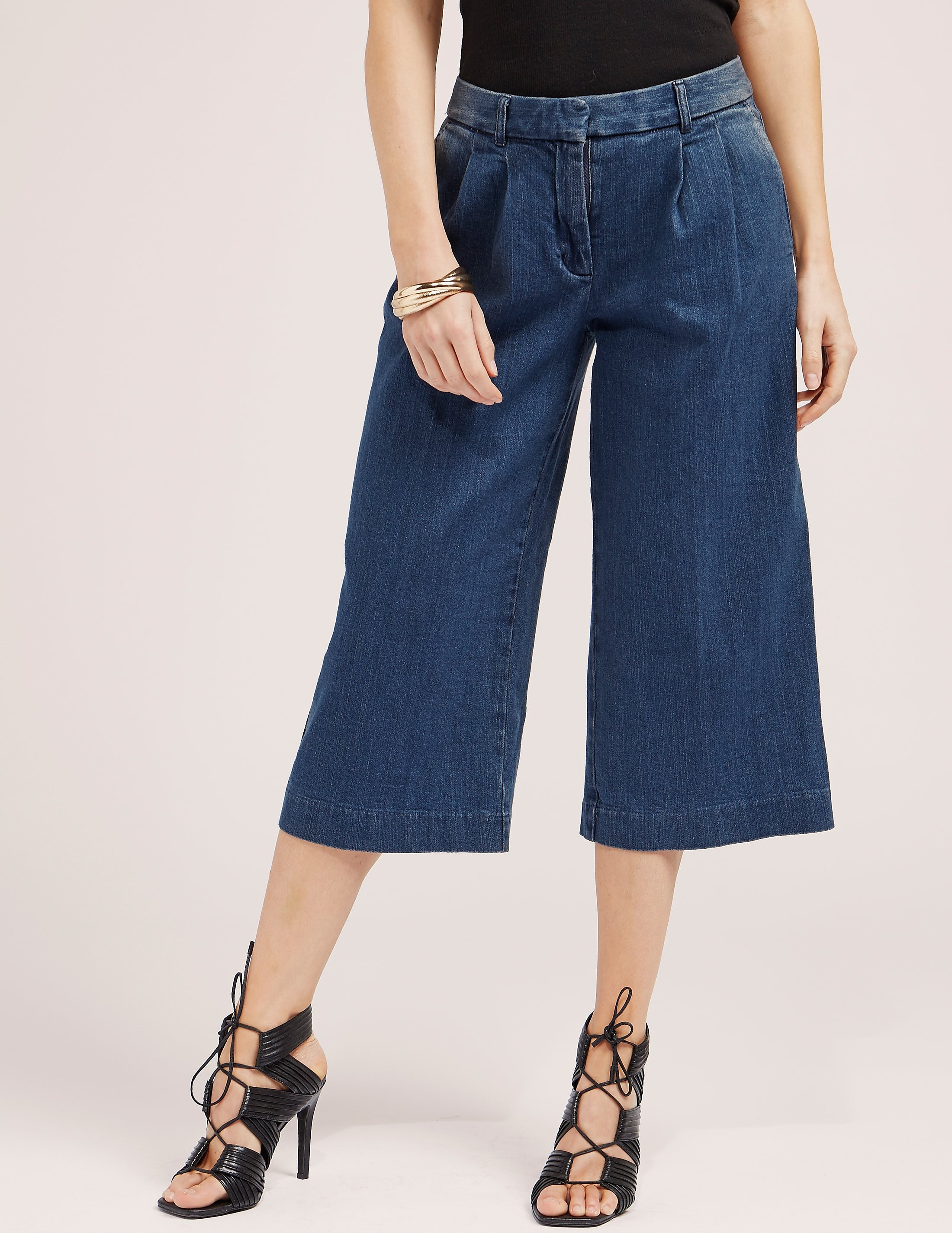 Michael Kors Huston Denim Culottes