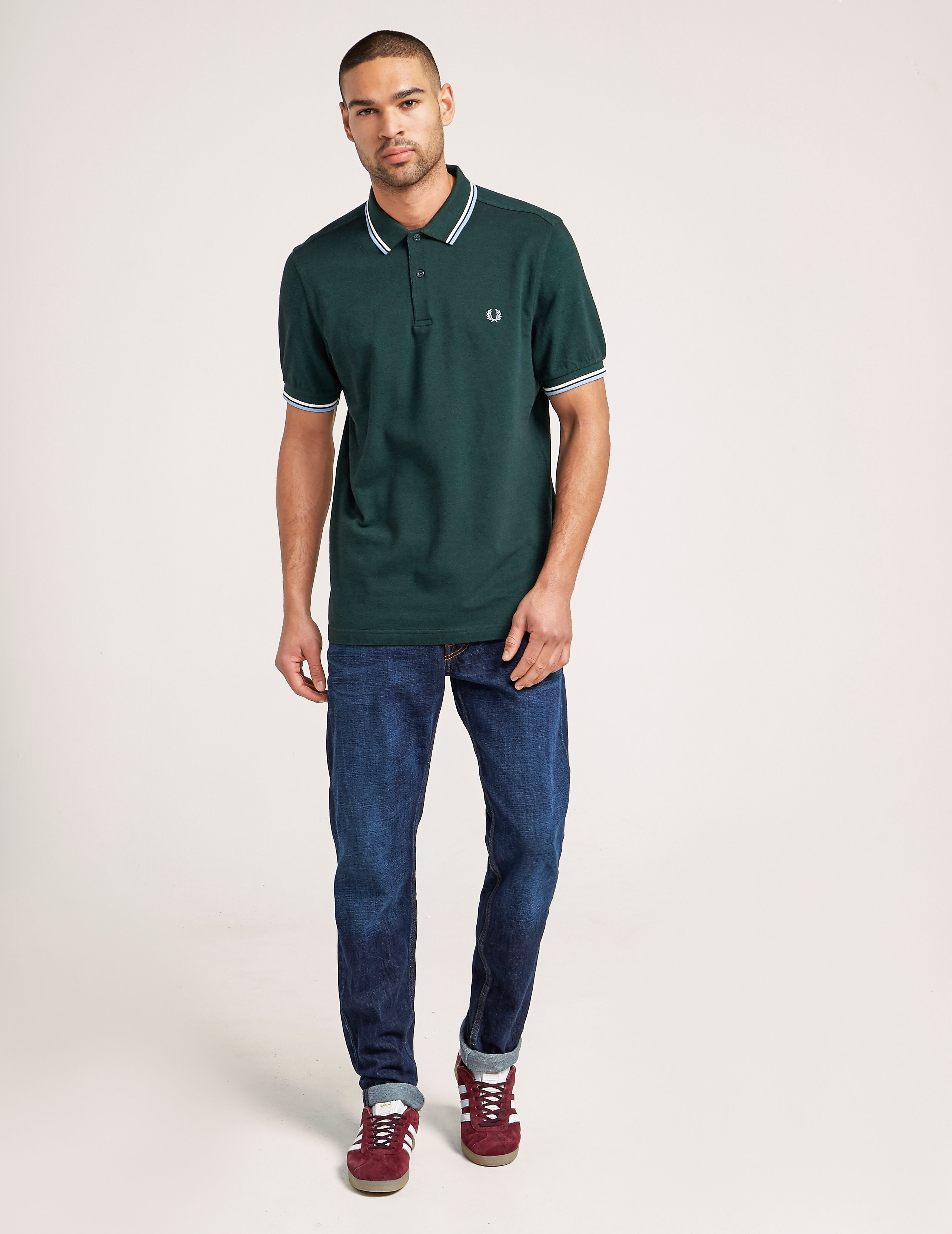 Fred Perry Twin Tip Oxford Polo Shirt