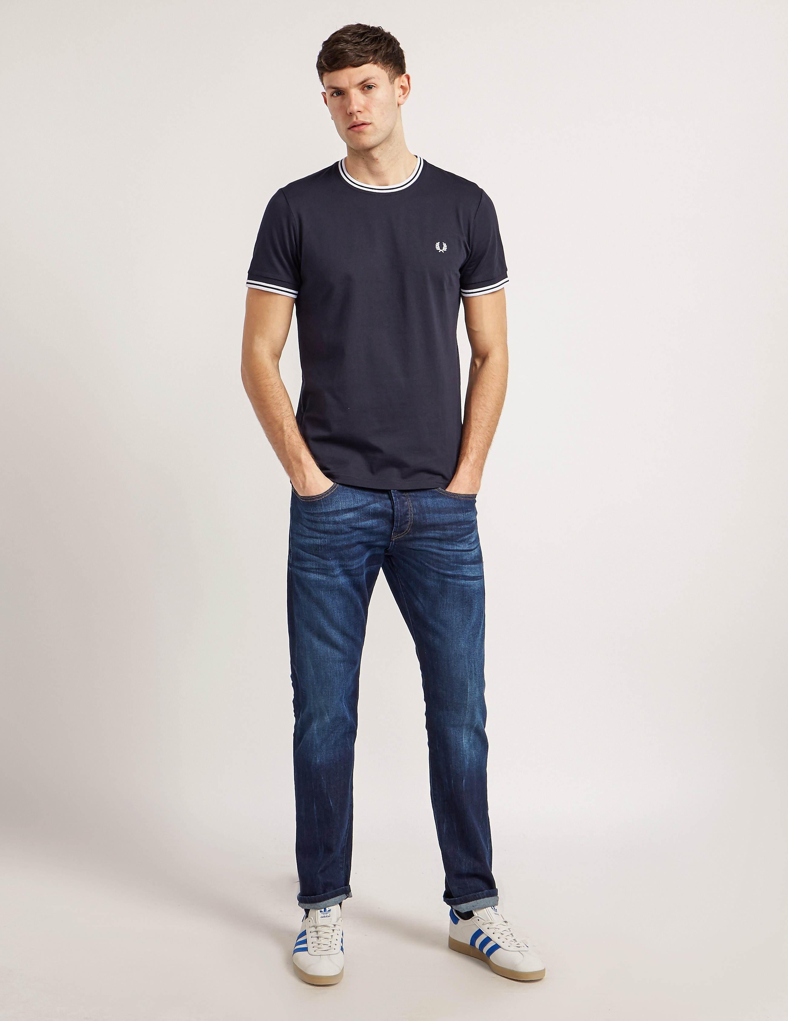 Fred Perry Twin Tip Crew T-Shirt