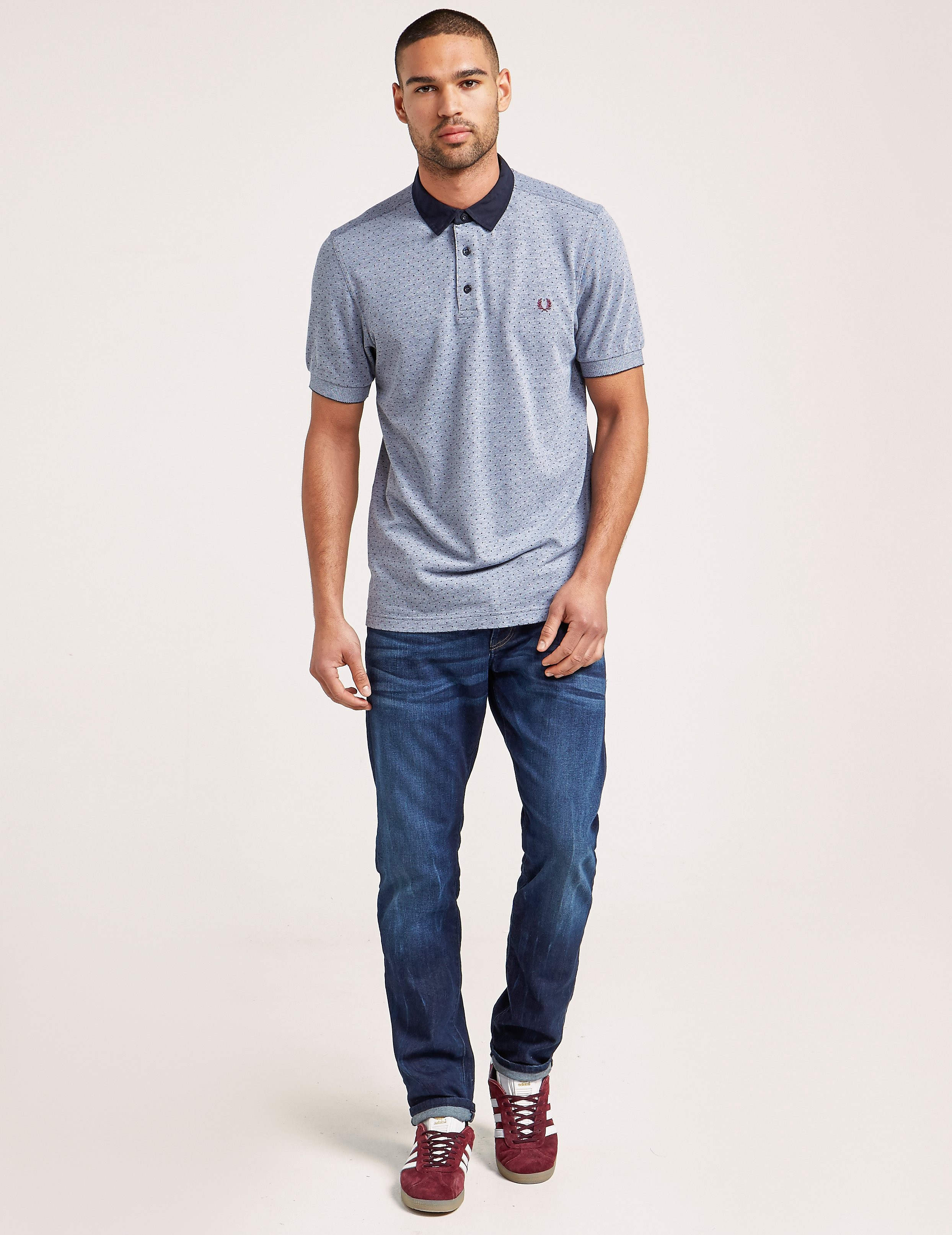 Fred Perry Polka Dot Short Sleeve Polo Shirt