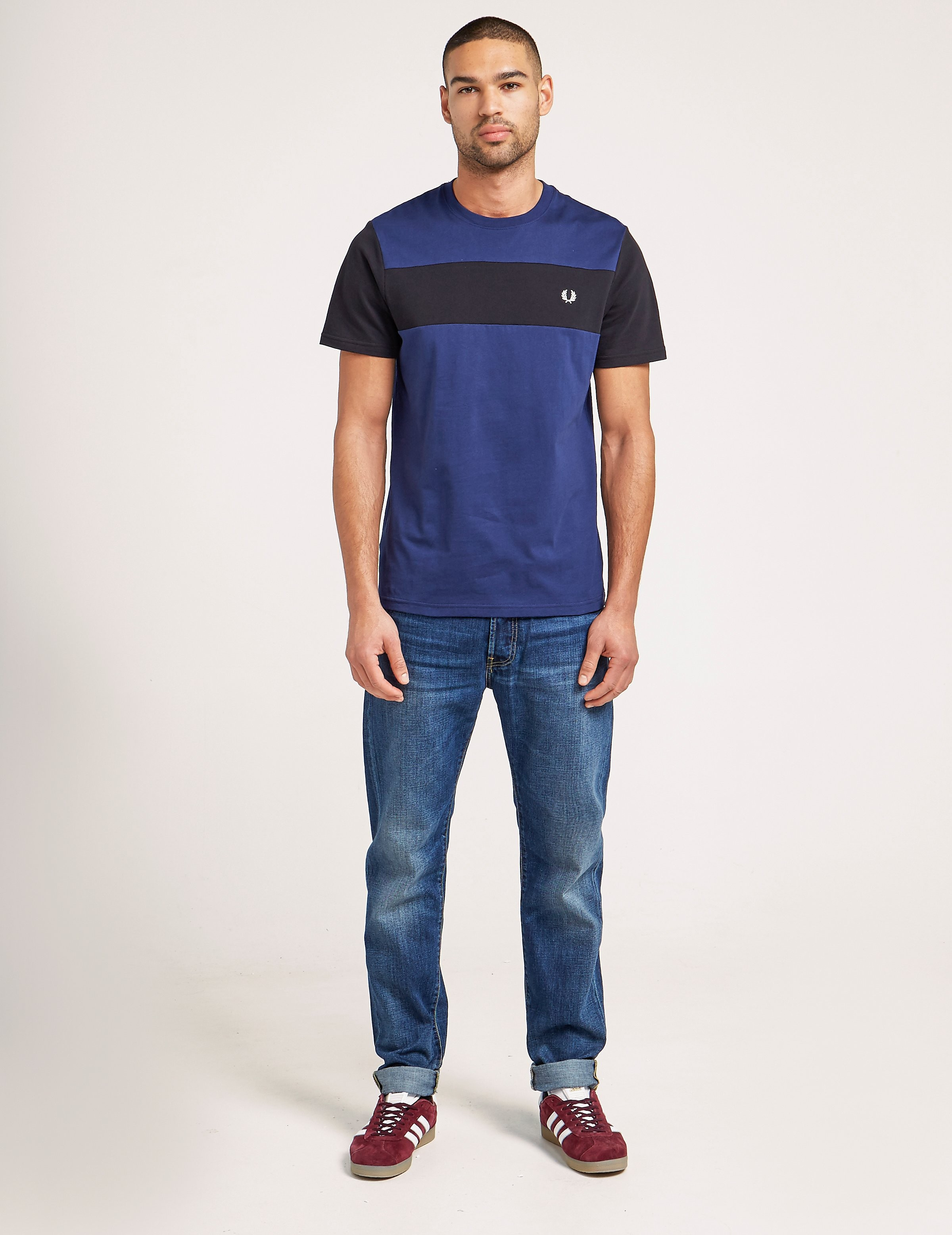 Fred Perry Textured Panel T-Shirt