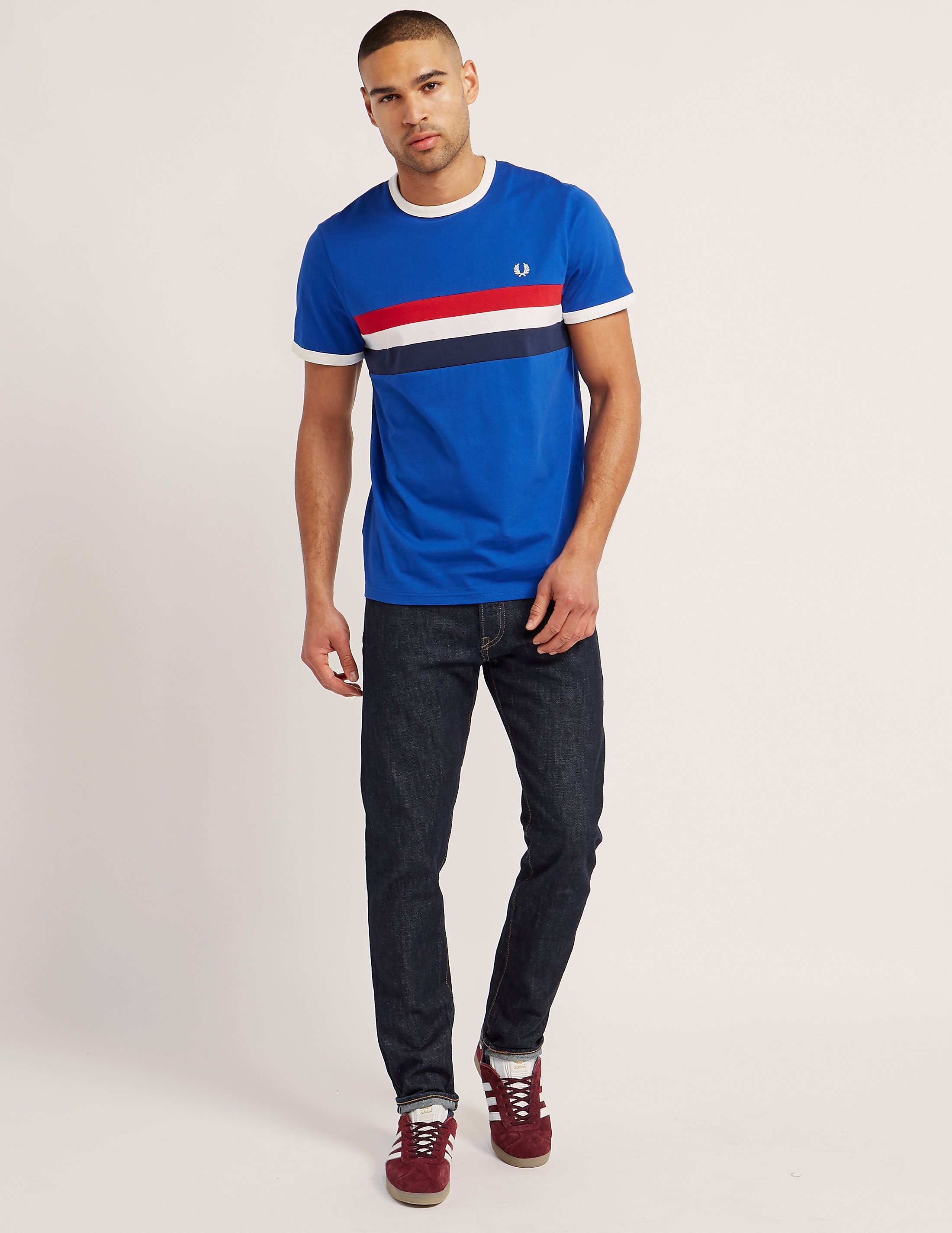 Fred Perry Stripe Panel Ringer T-Shirt