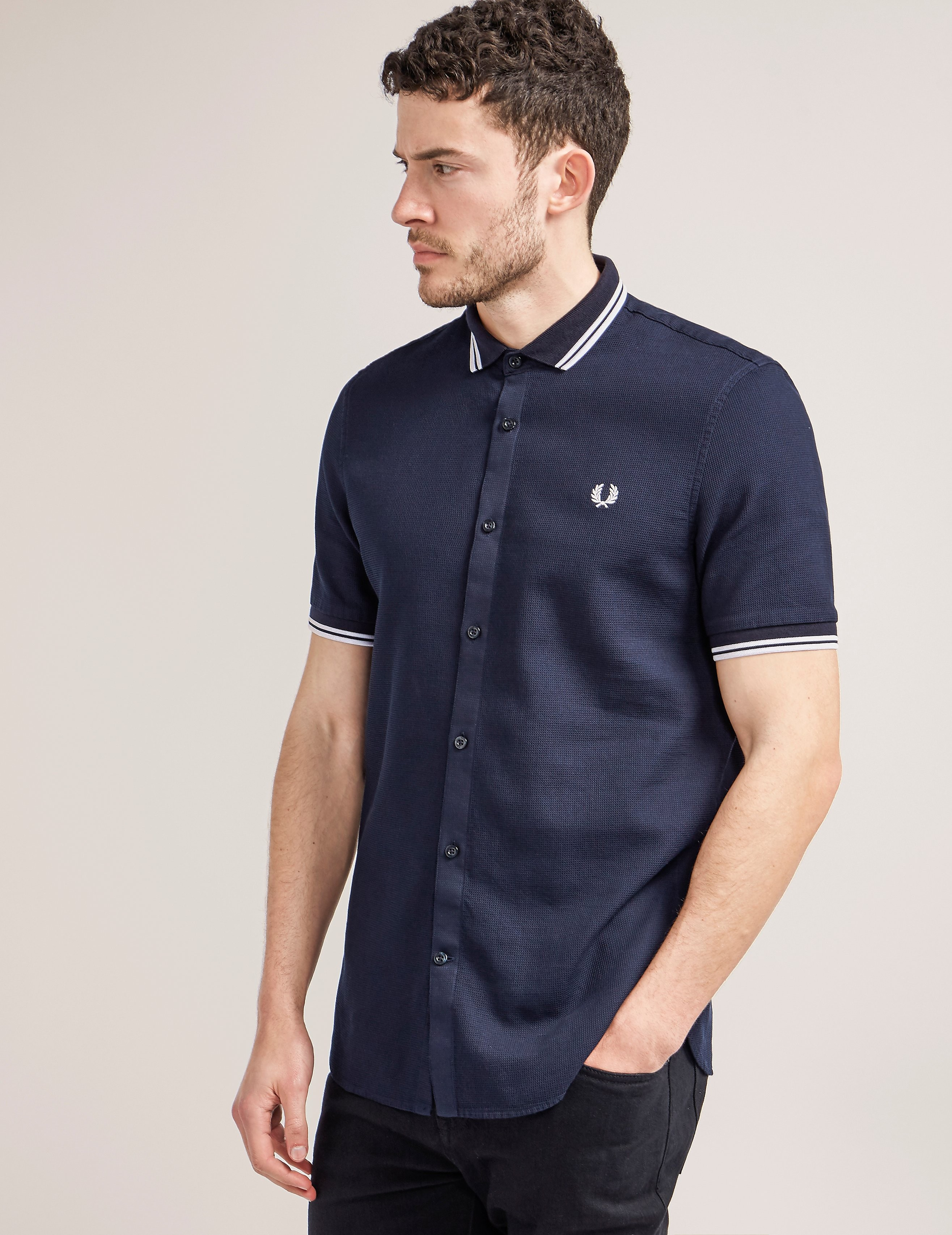 Fred Perry Tipped Waffle Shirt
