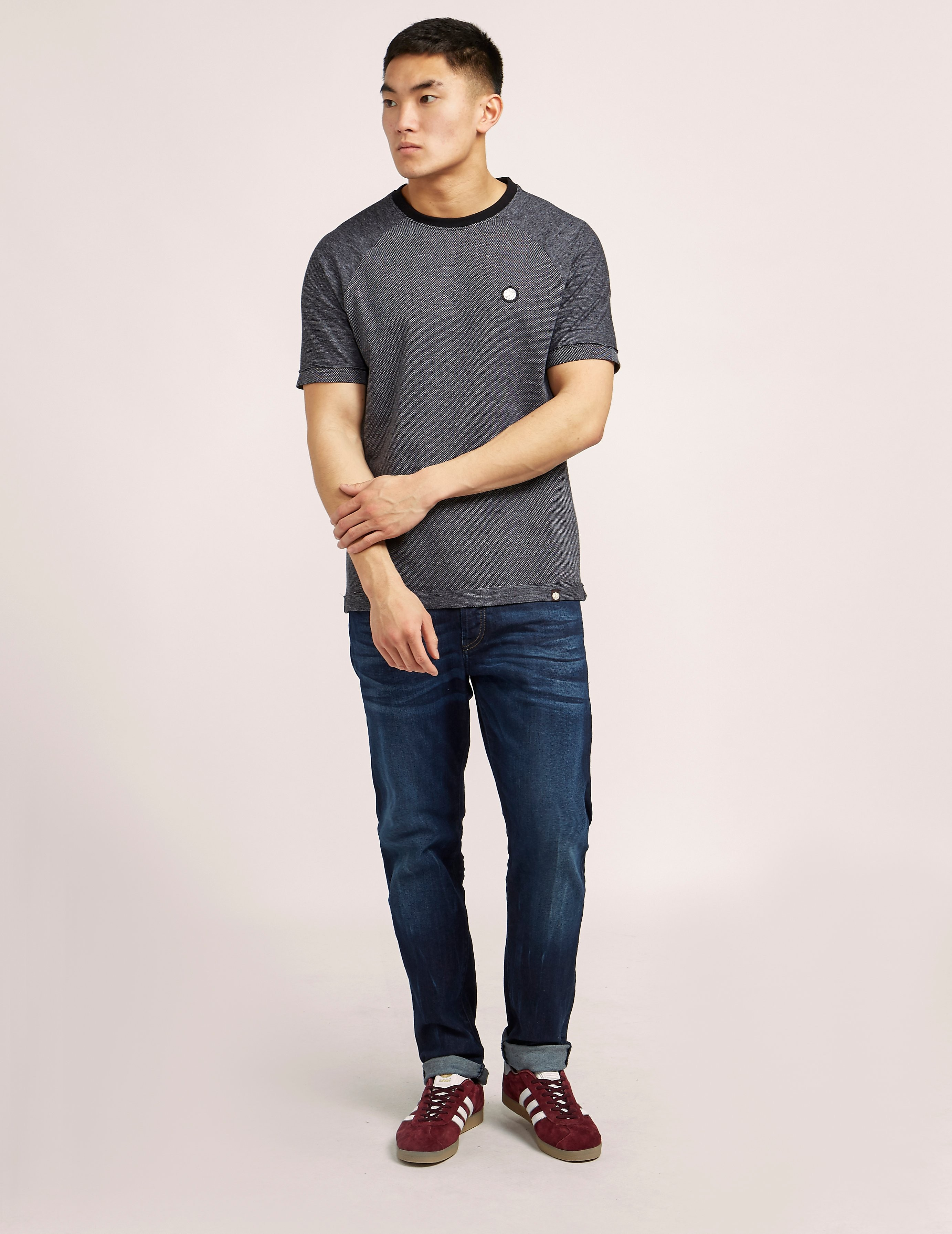 Pretty Green Rowsley Pique Crew T-Shirt