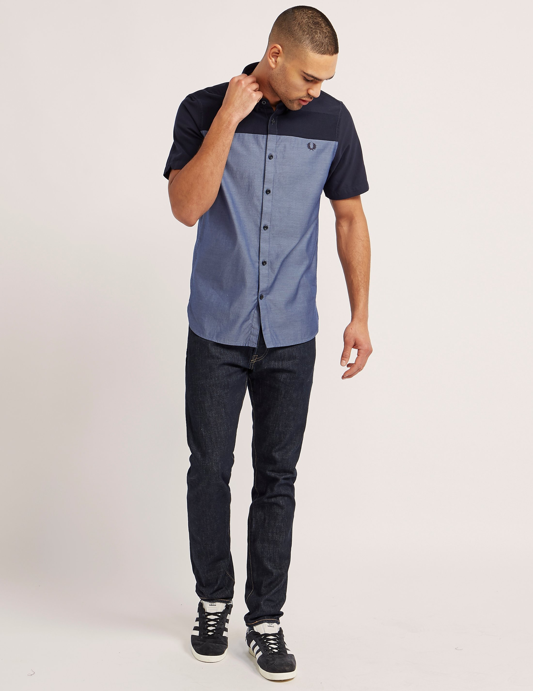 Fred Perry Texture Mix Short Sleeve Shirt