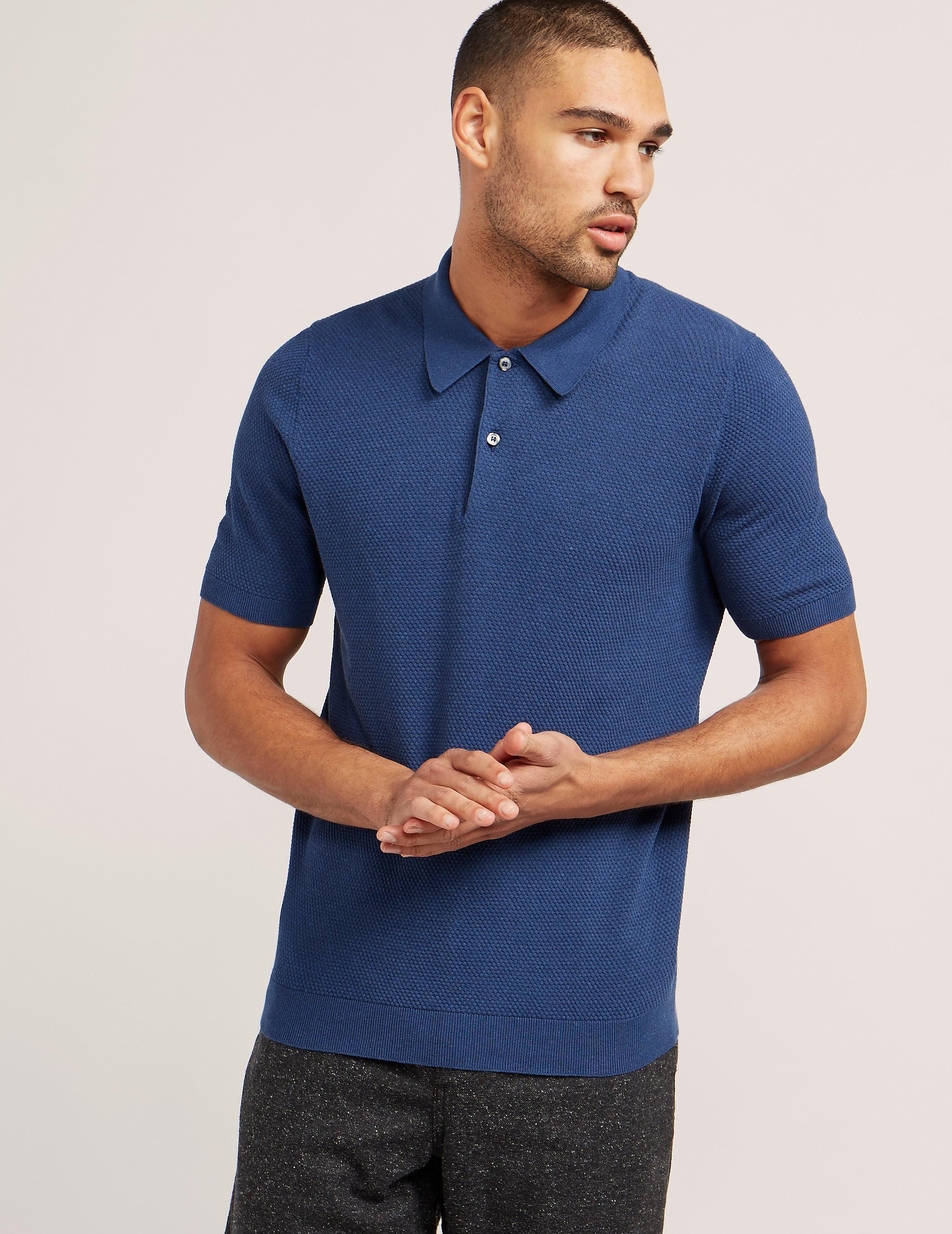 Gran Sasso Textured Short Sleeve Polo Shirt