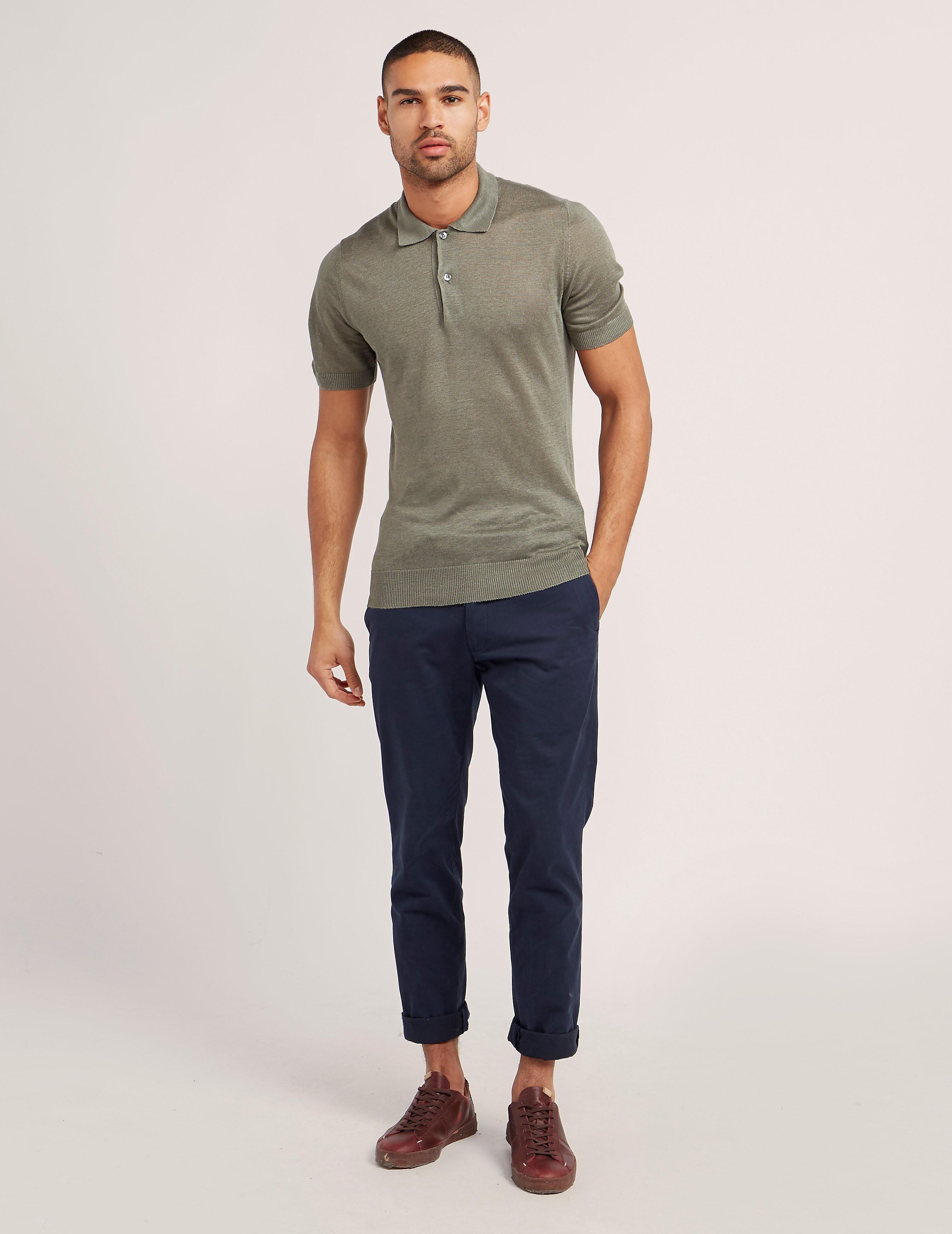 Gran Sasso Linen Short Sleeve Polo Shirt