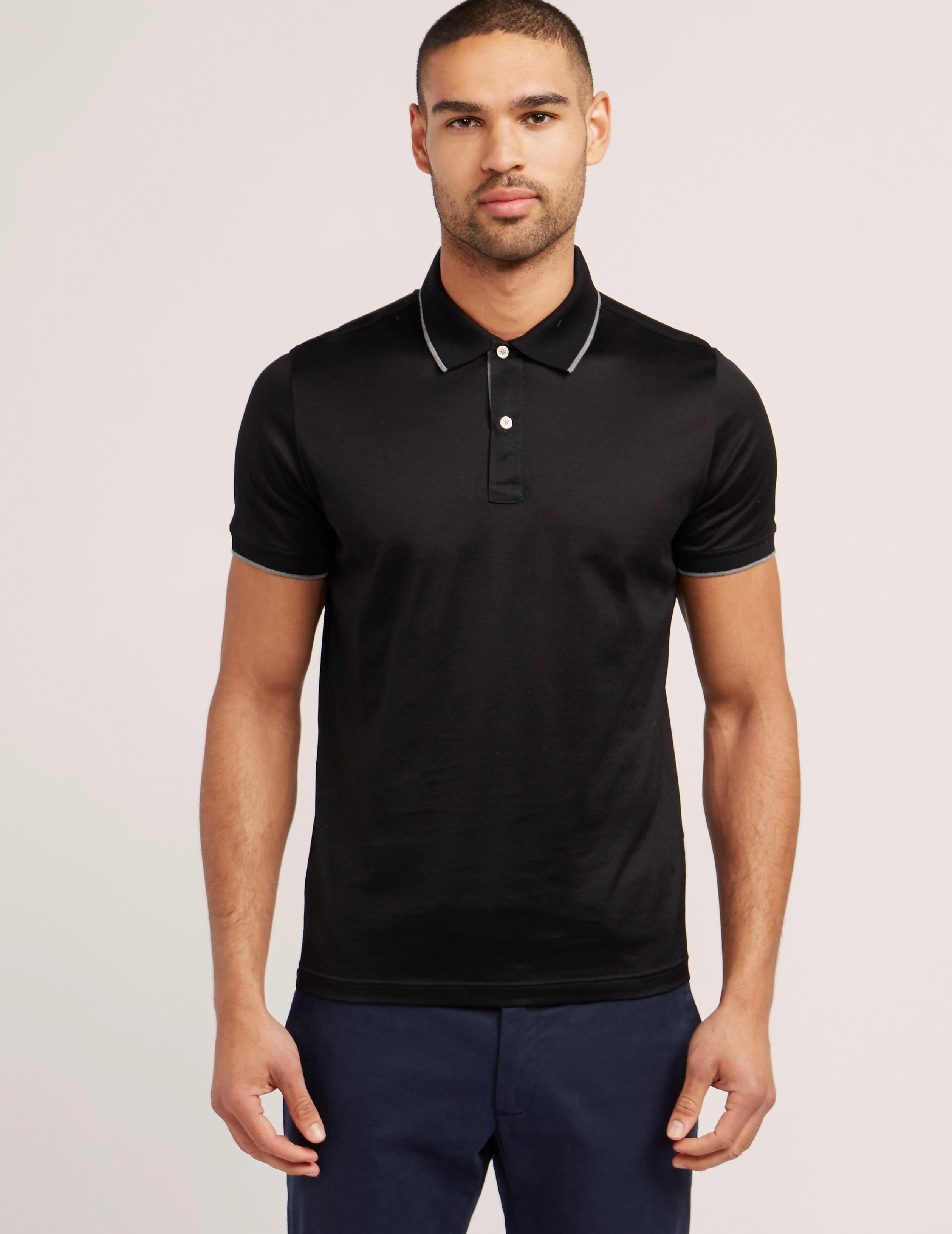 Gran Sasso Mercerised Short Sleeve Polo Shirt