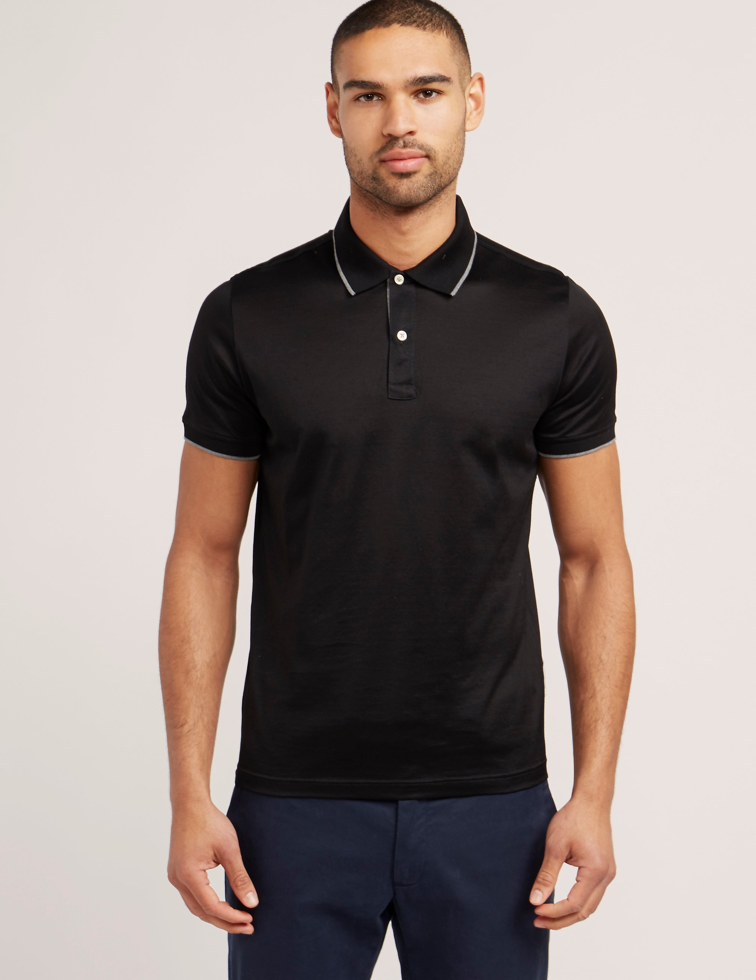 Gran Sasso Mercerised Short Sleeve Polo Shirt