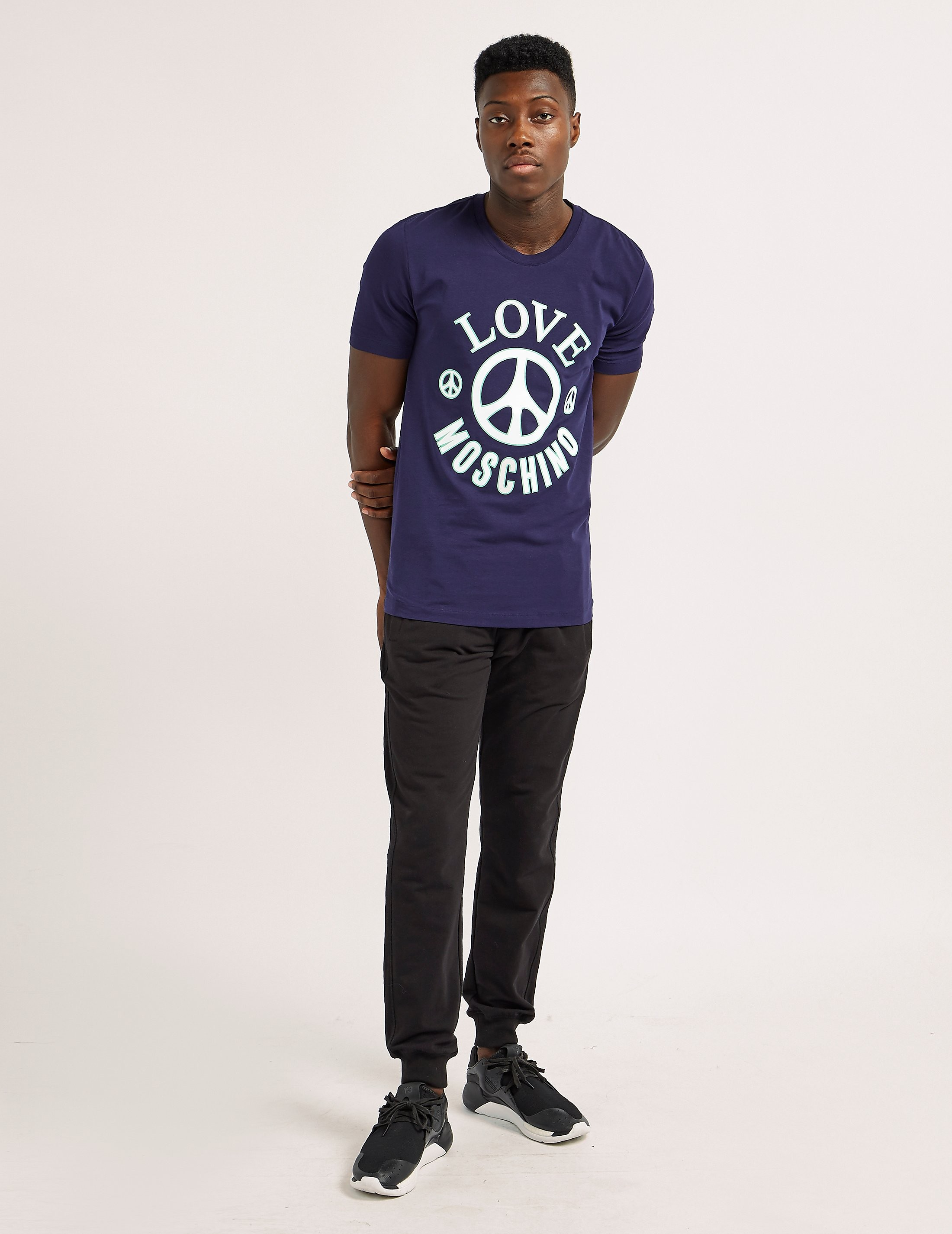 Love Moschino Peace Logo T-Shirt