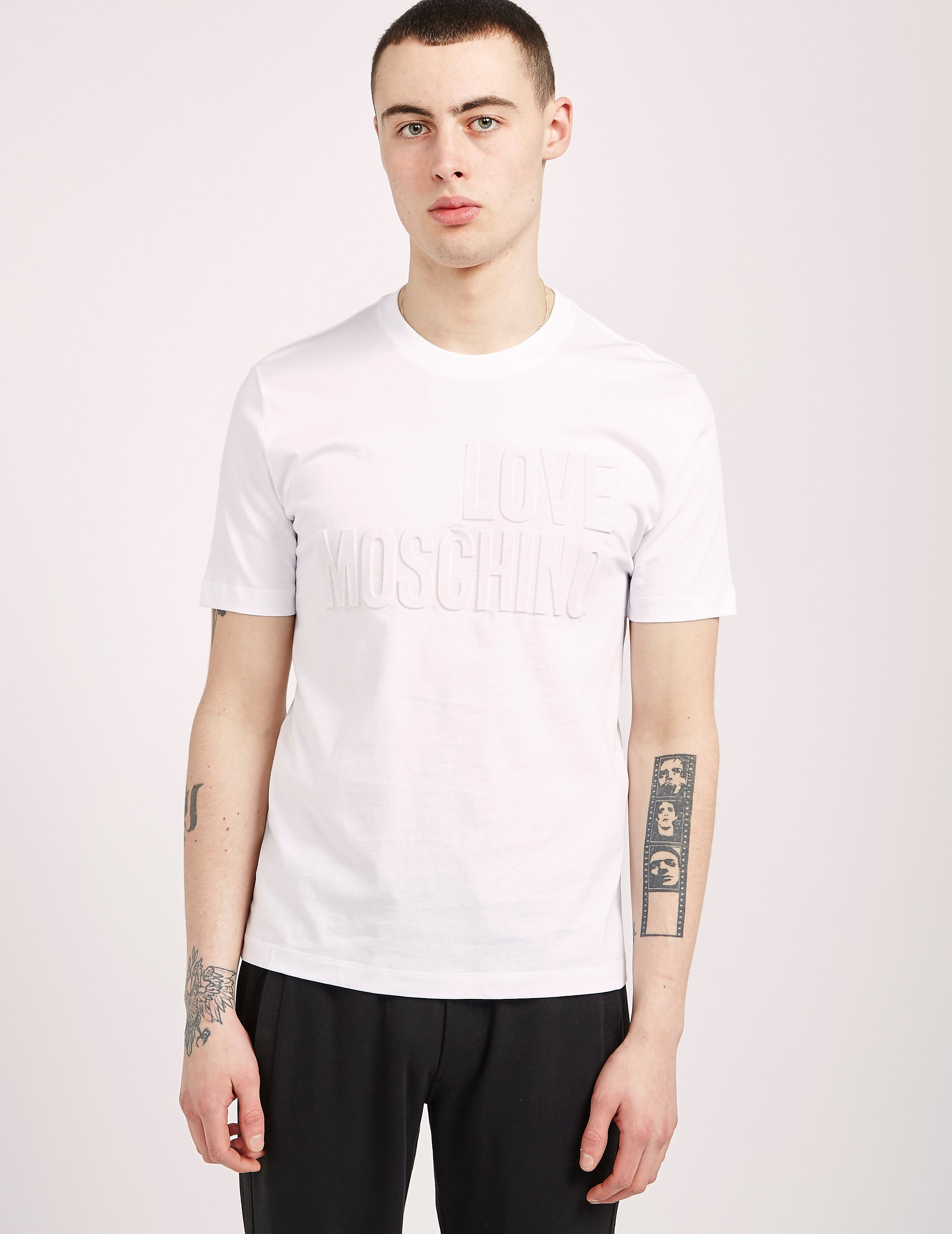 Love Moschino Embossed Short Sleeve T-Shirt