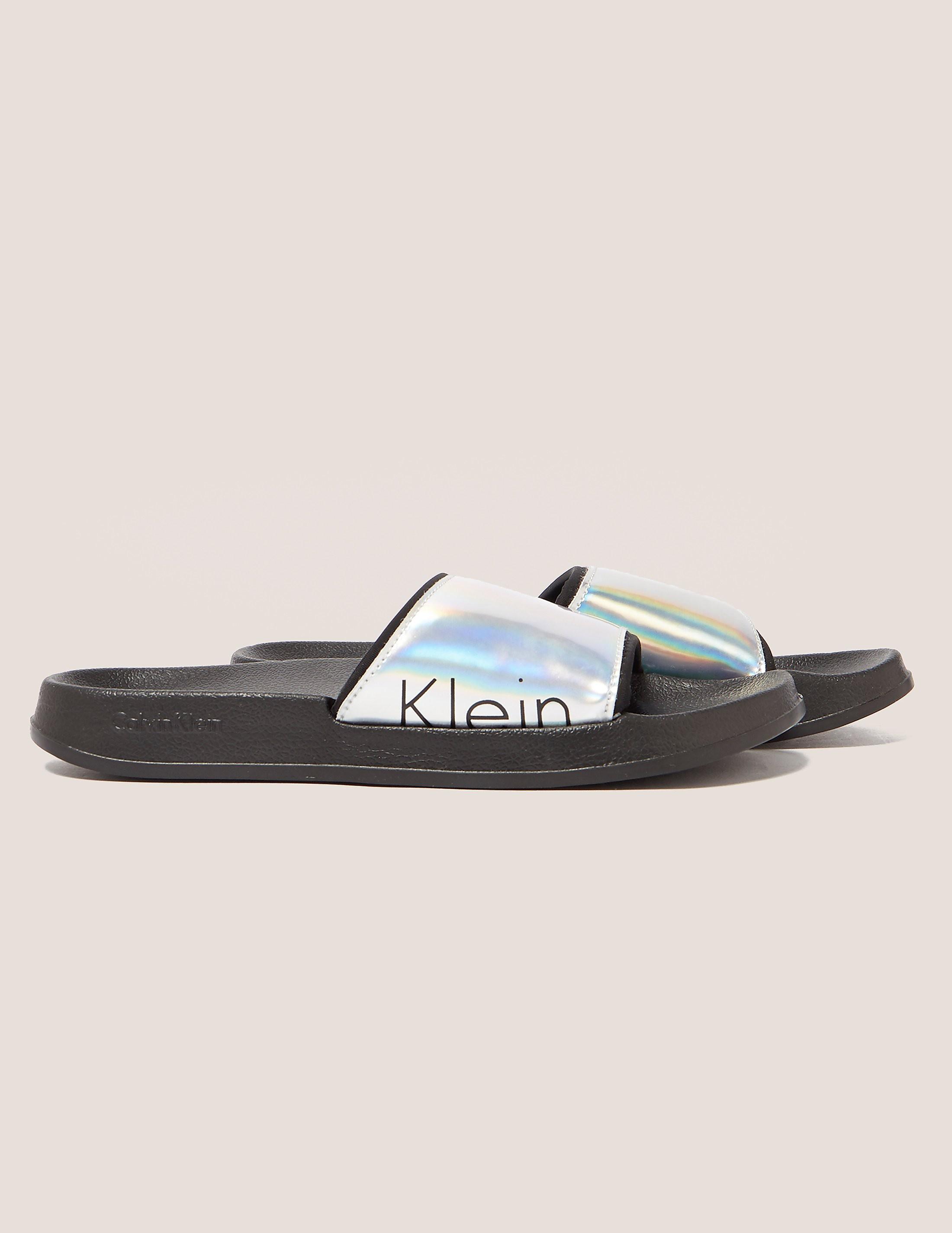 Calvin Klein Holographic Slides