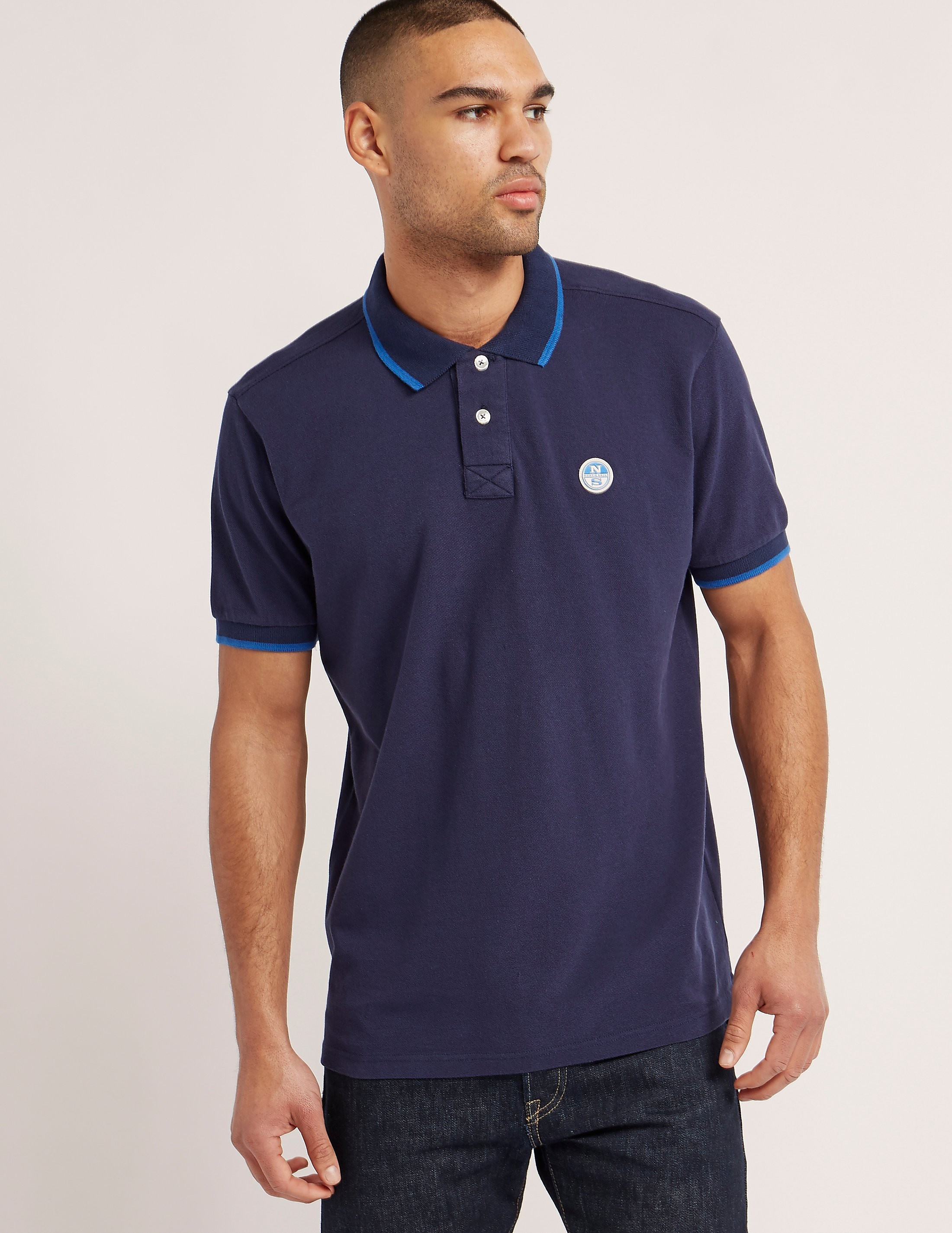 NORTH SAILS Pique Tipped Polo Shirt