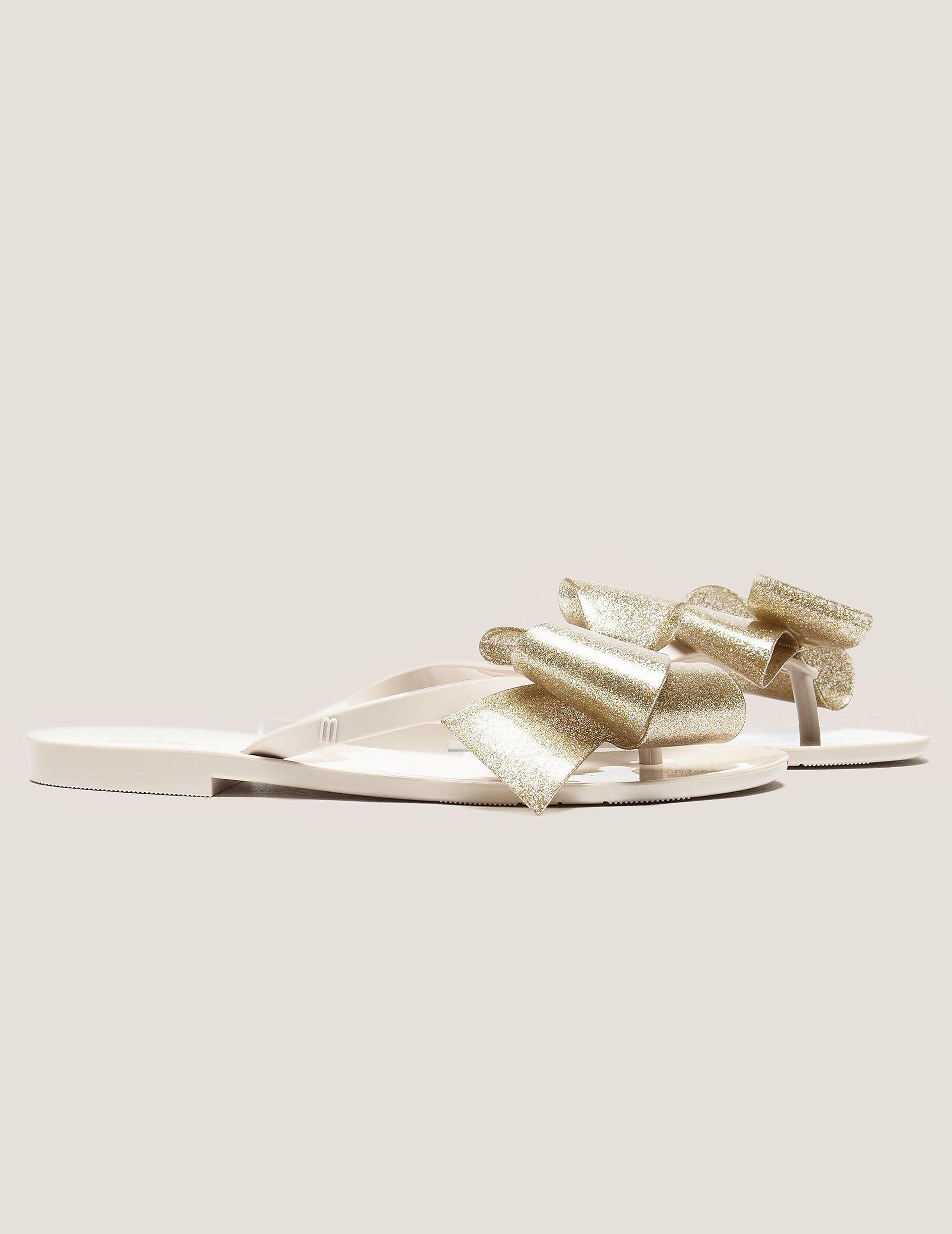Melissa Glitter Bow Sandals