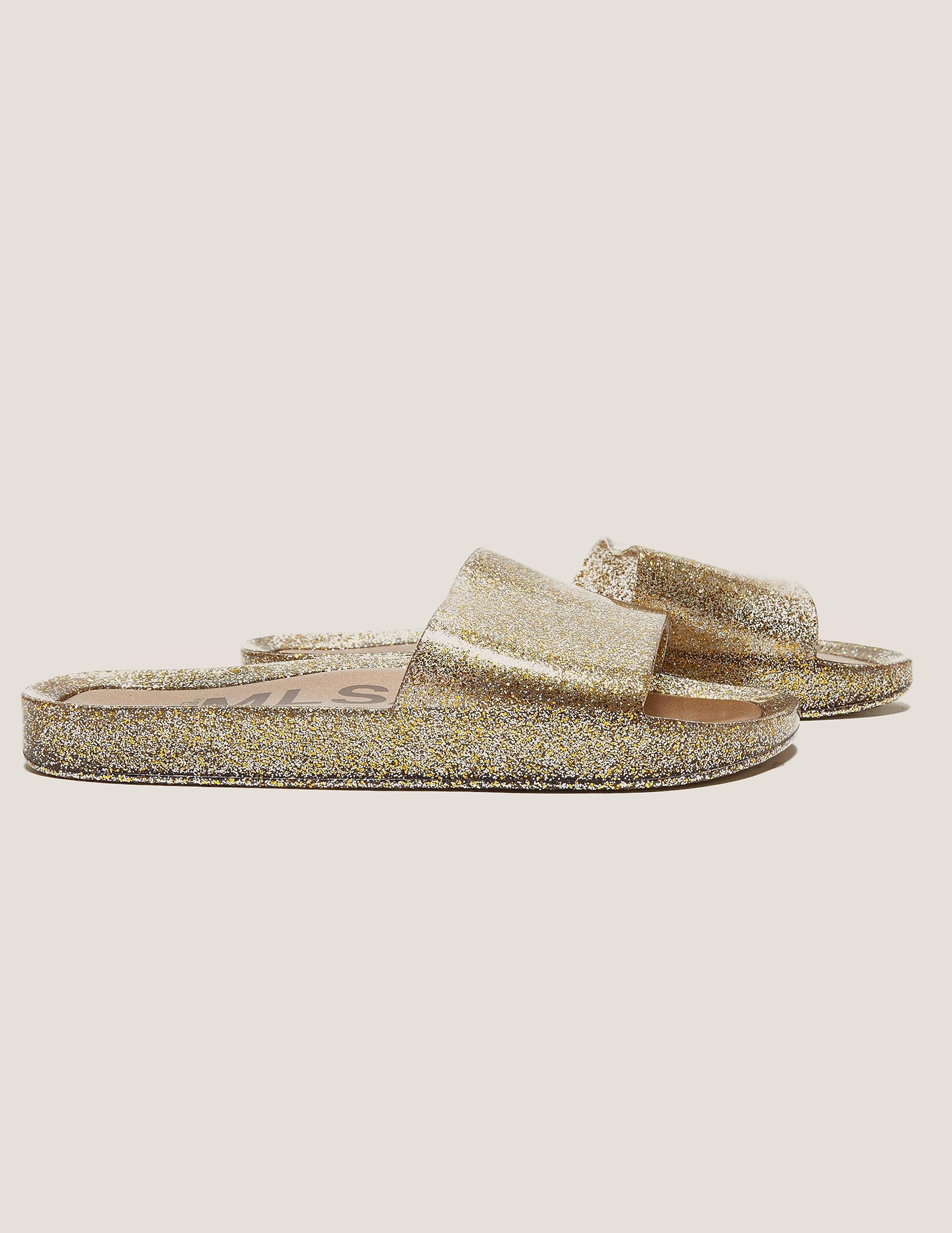 Melissa Gold Slide Sandals