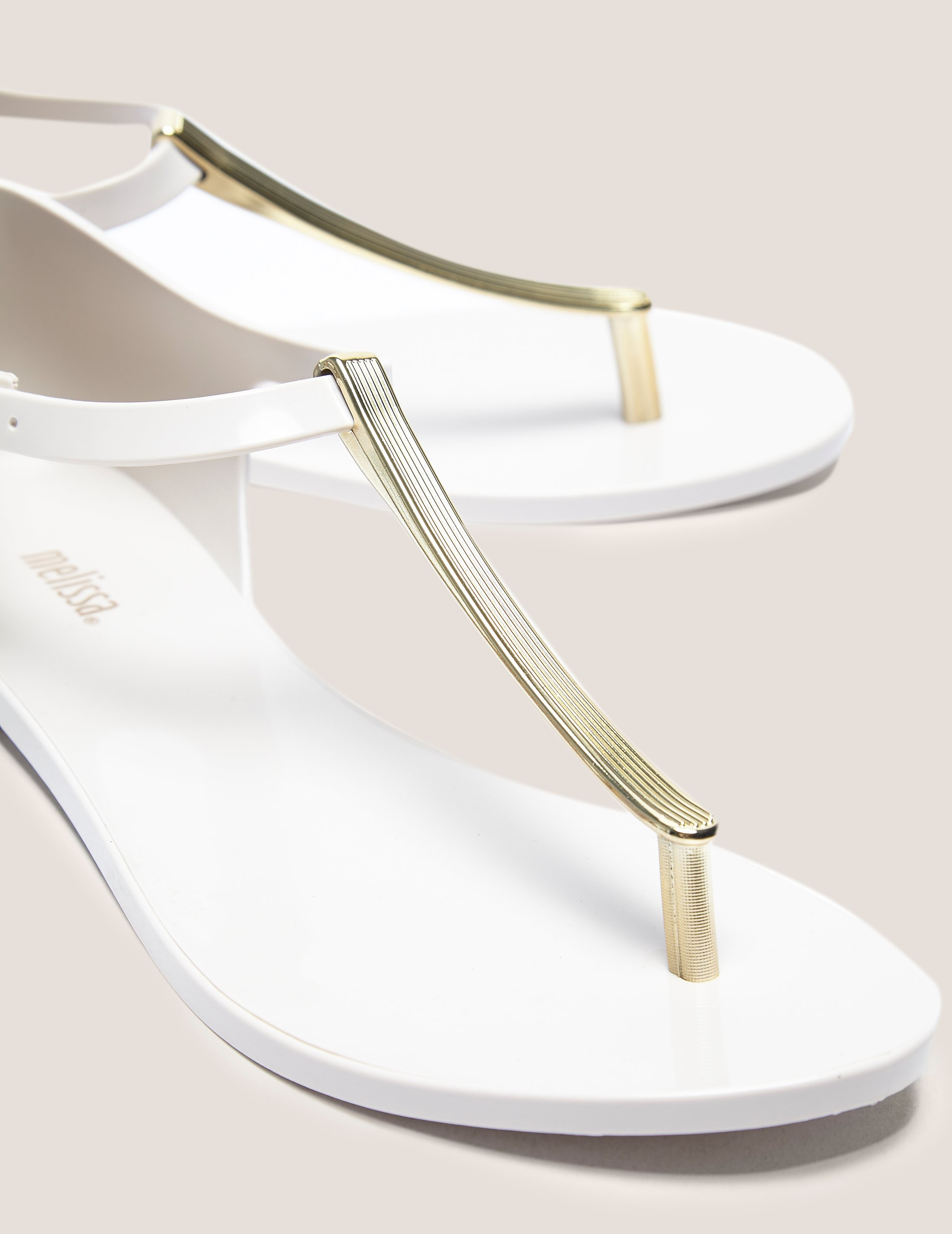 Melissa Nude Chrome Sandals