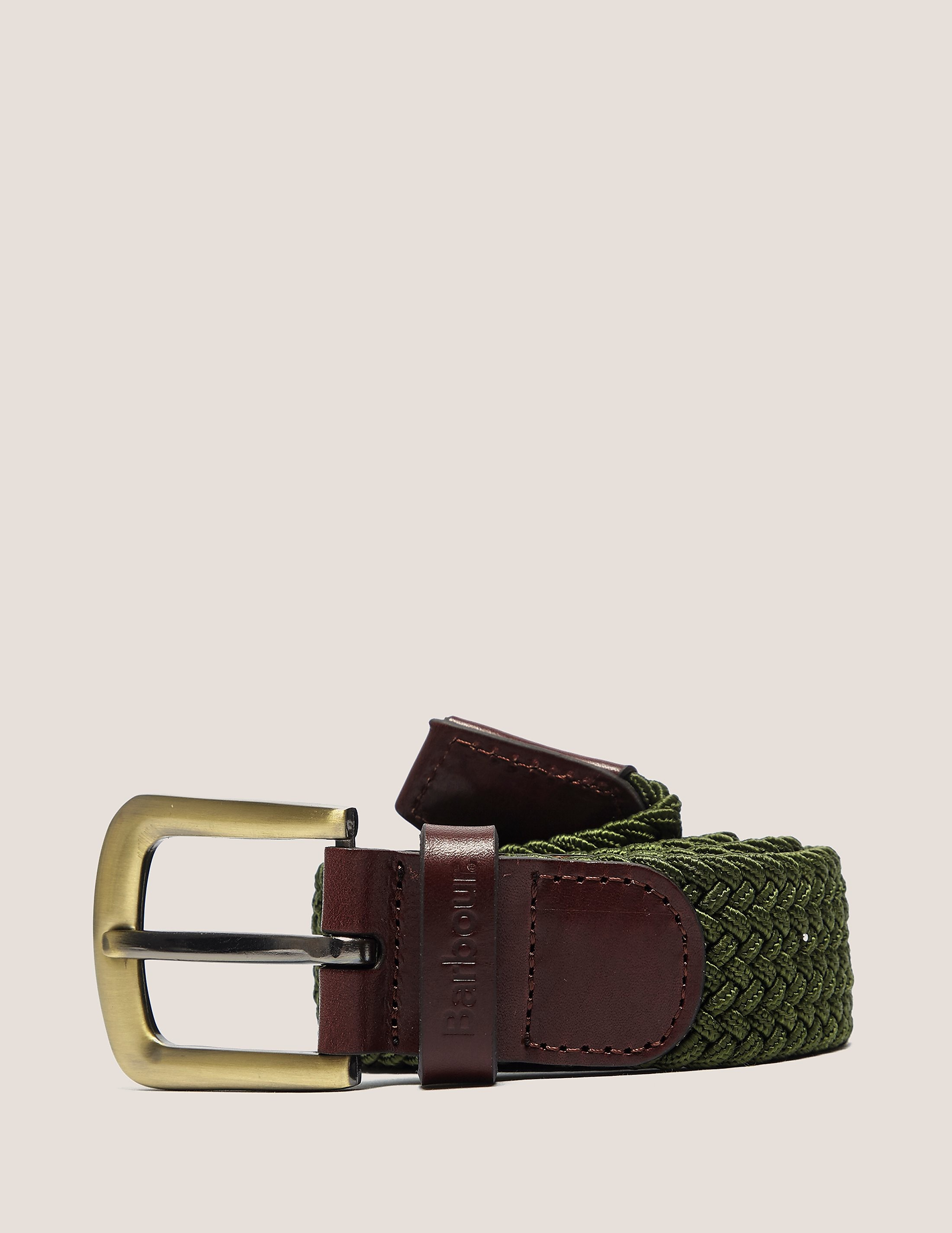 Barbour Webbing Leather Belt