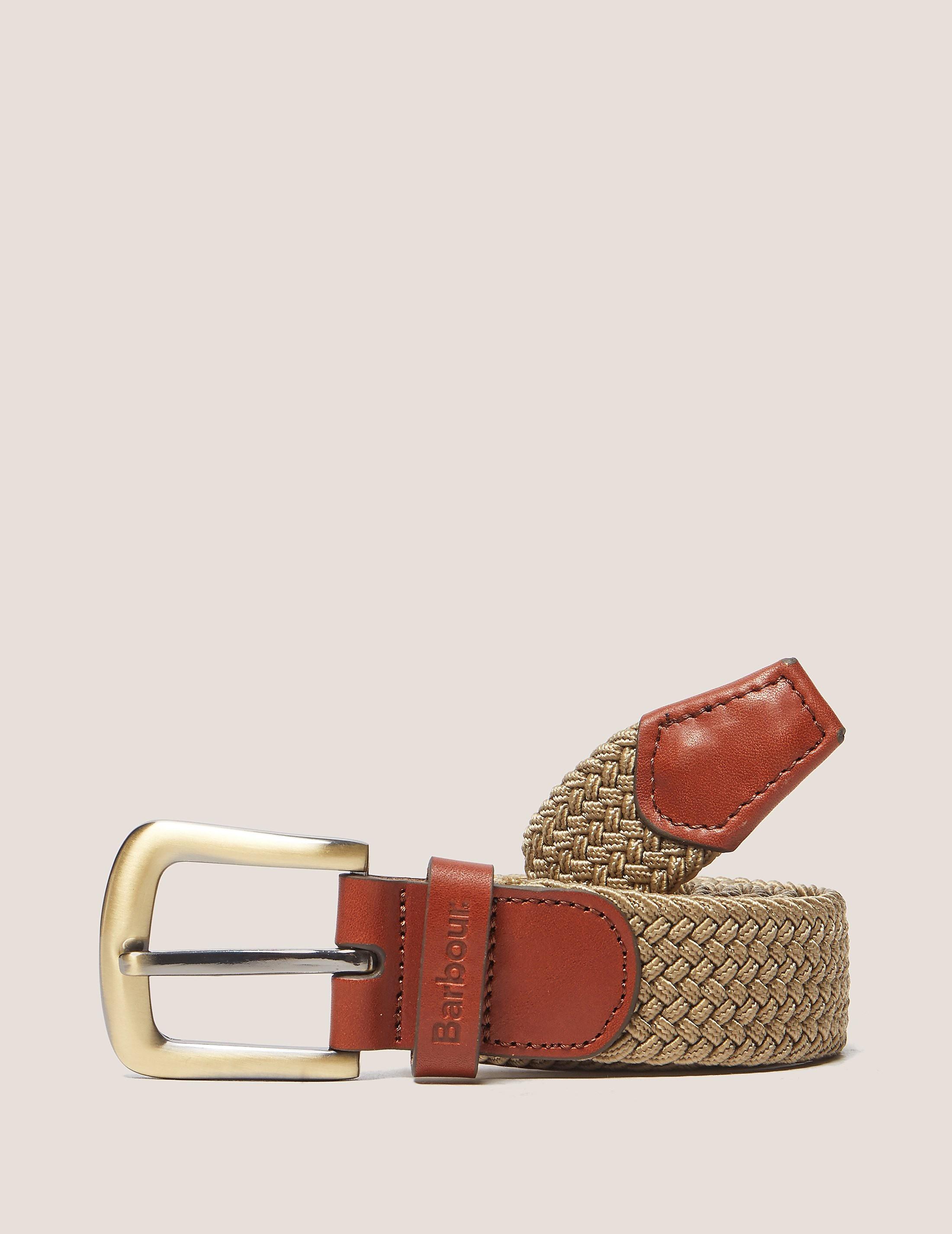 Barbour Webbing Leather Belt
