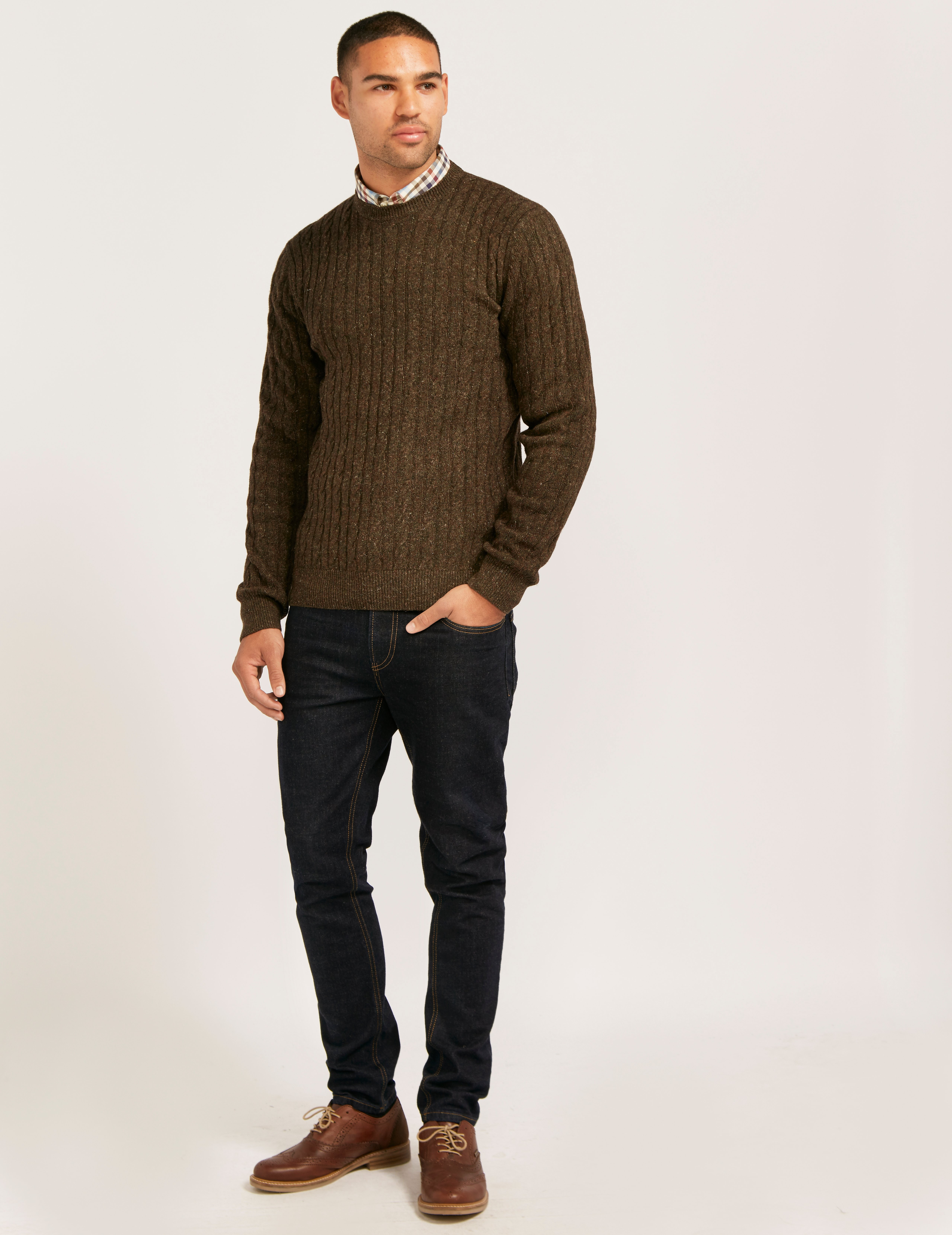 Barbour Cable Crew Knit
