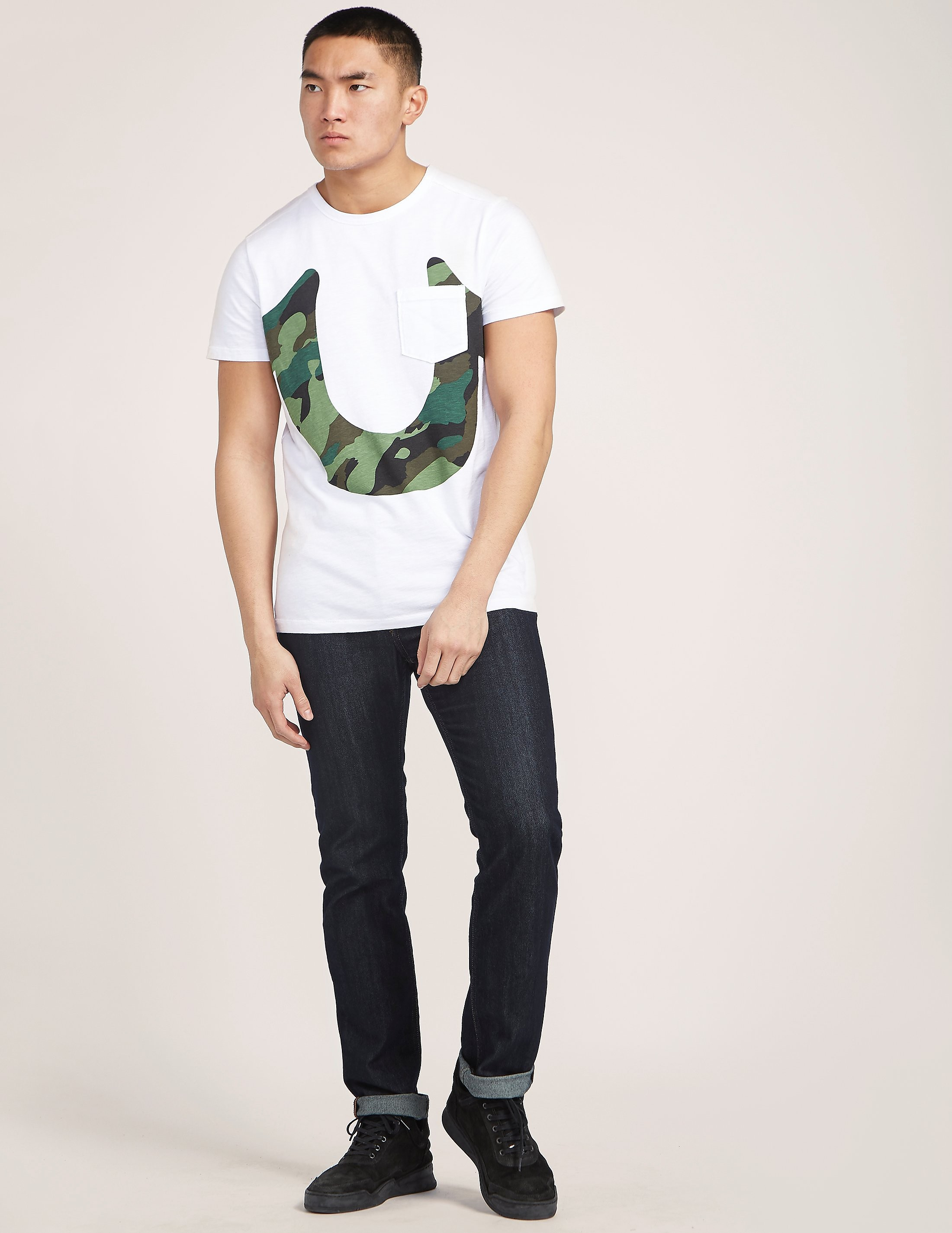 True Religion Camo Horseshoe T-Shirt