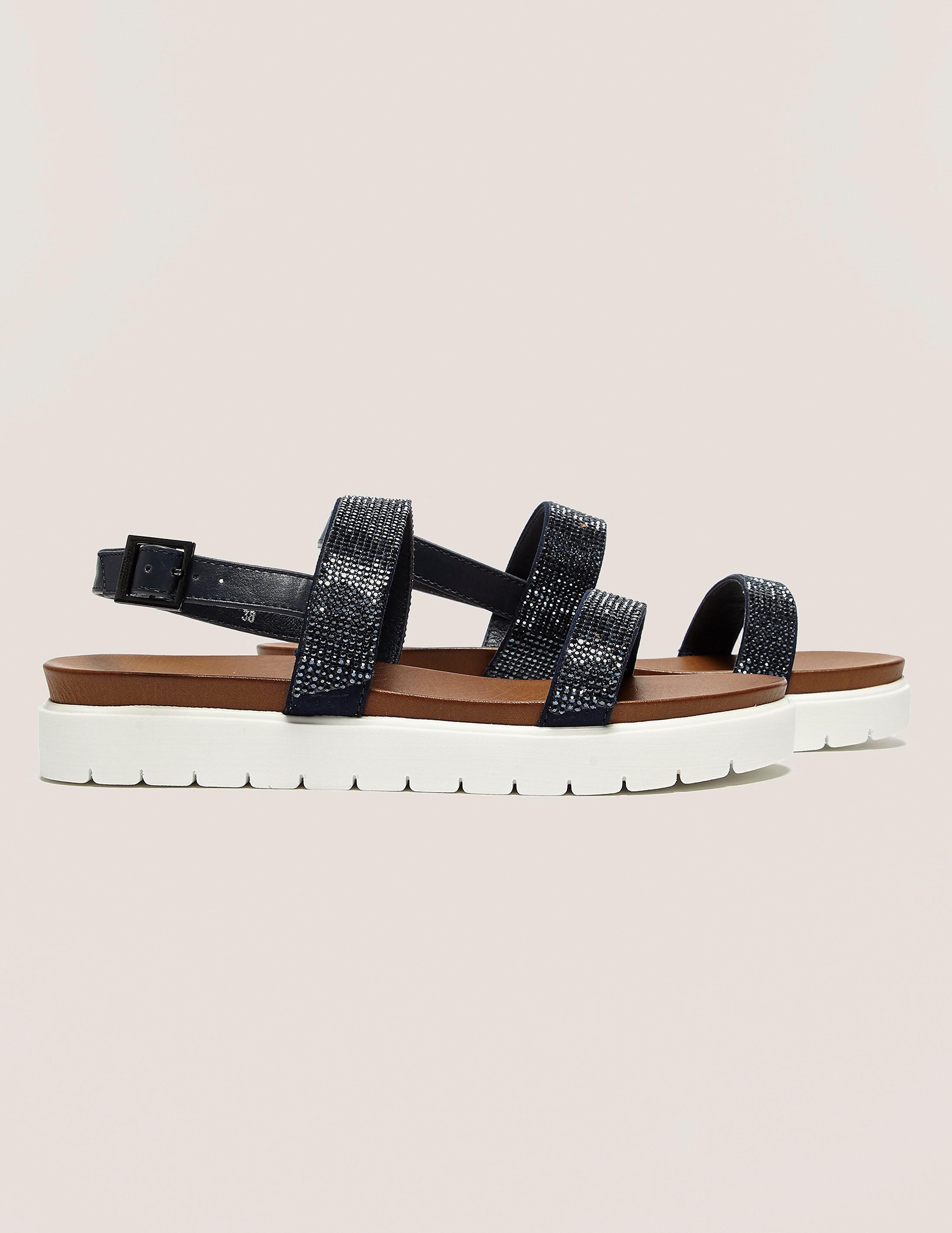 Ilse Jacobsen Diamante Strap Sandals