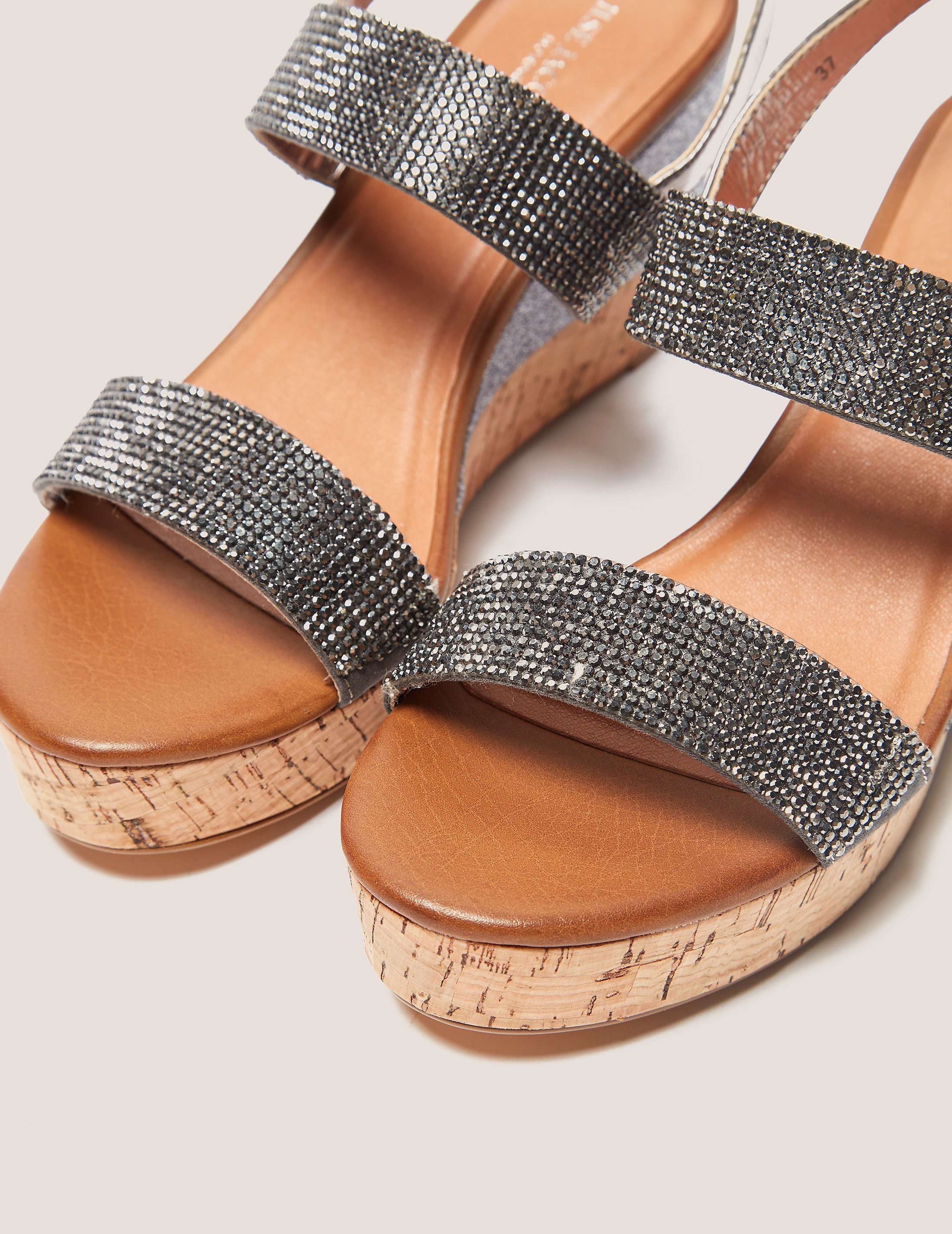 Ilse Jacobsen Poppy Diamante Wedge Sandals