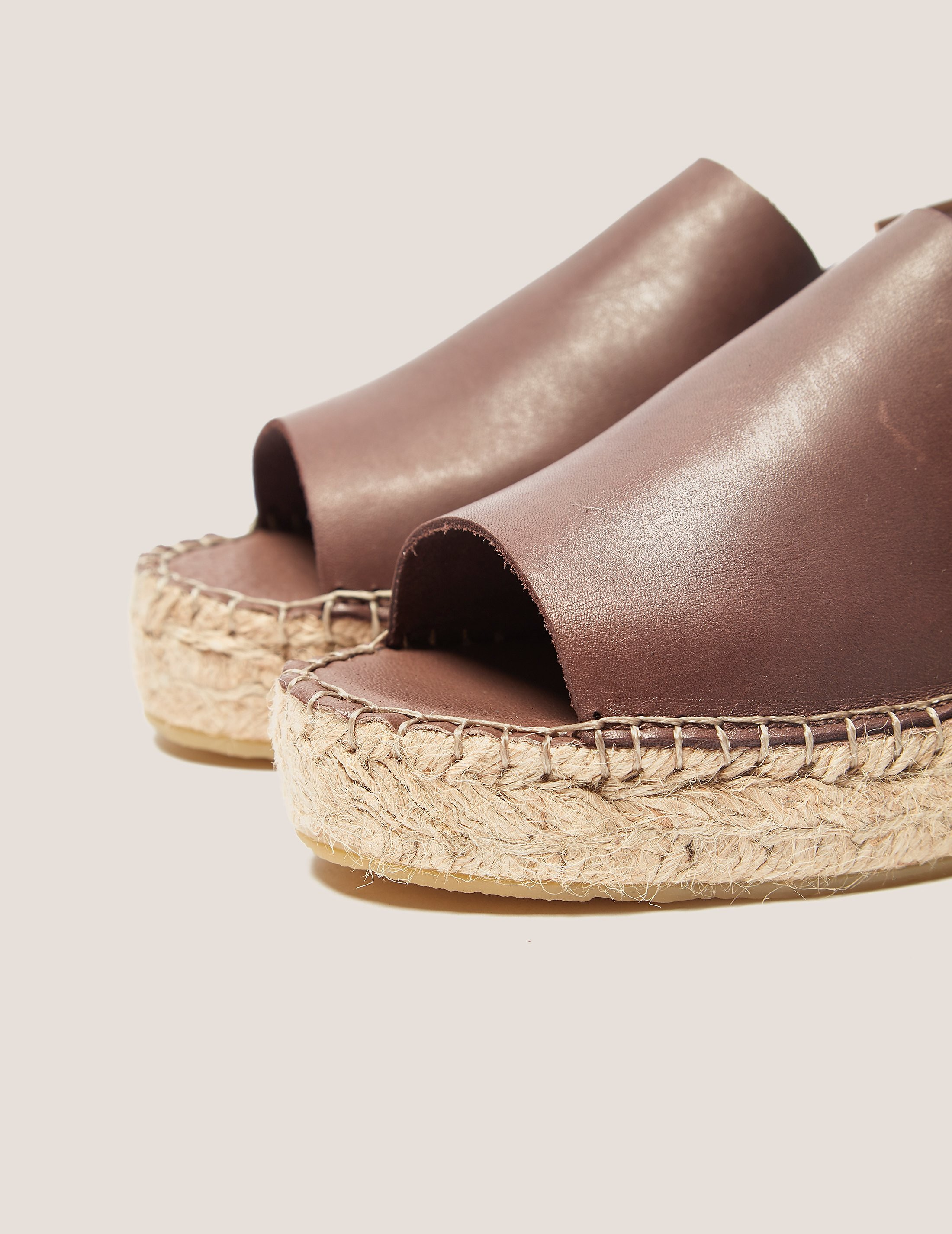 Ilse Jacobsen Leather Sling Espadrilles