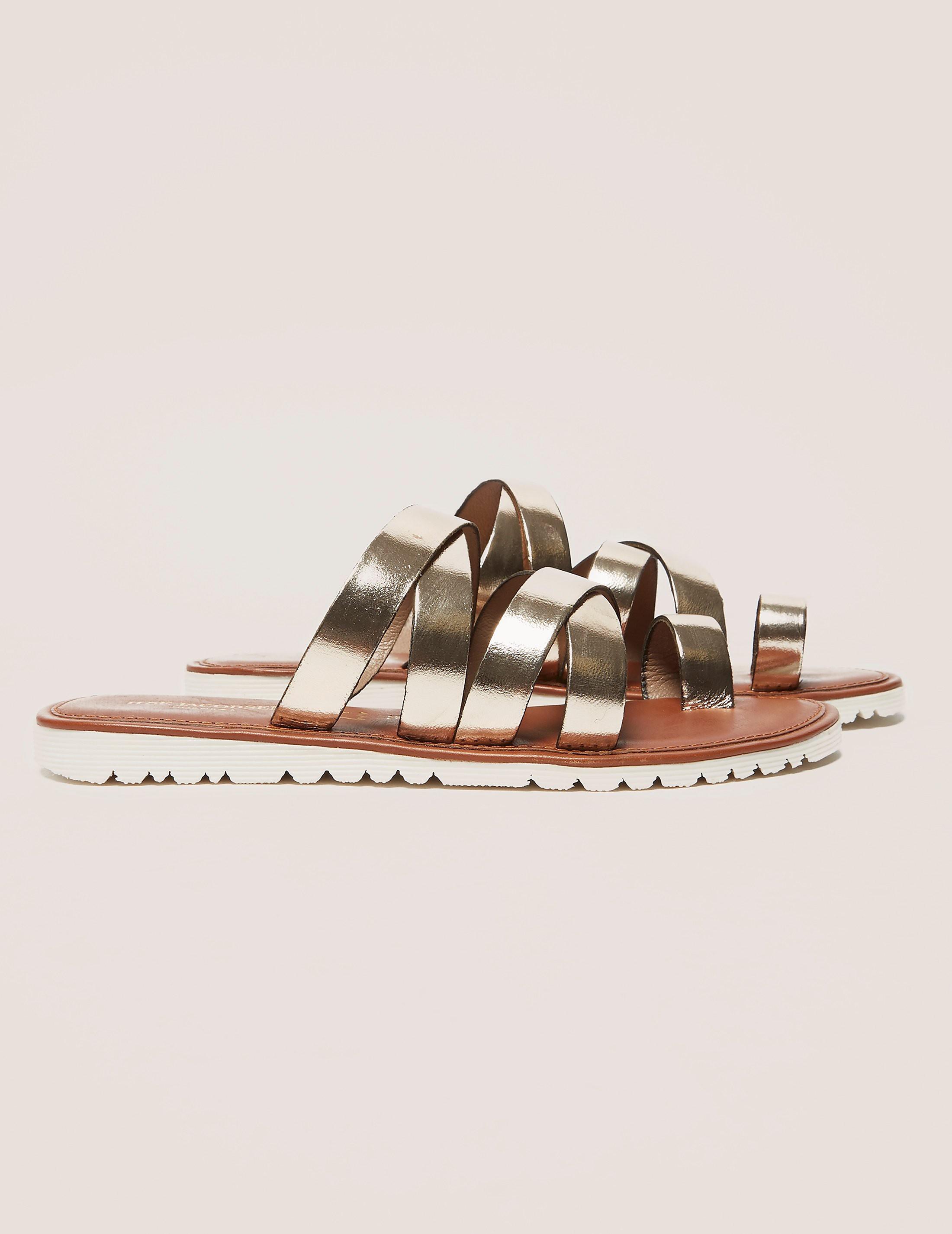 Ilse Jacobsen Hologram Metallic Strap Sandals