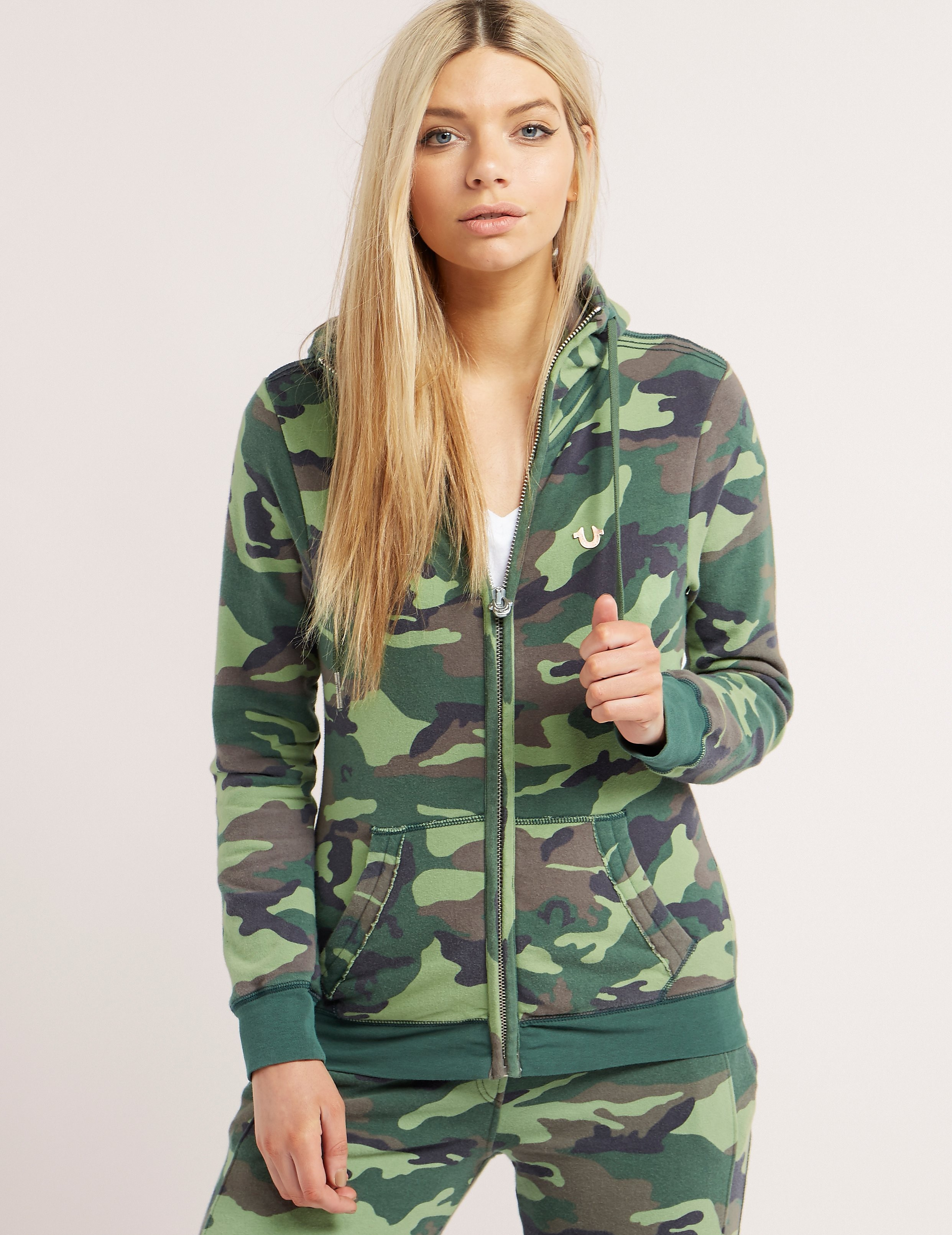 True Religion Camo Full Zip Track Top