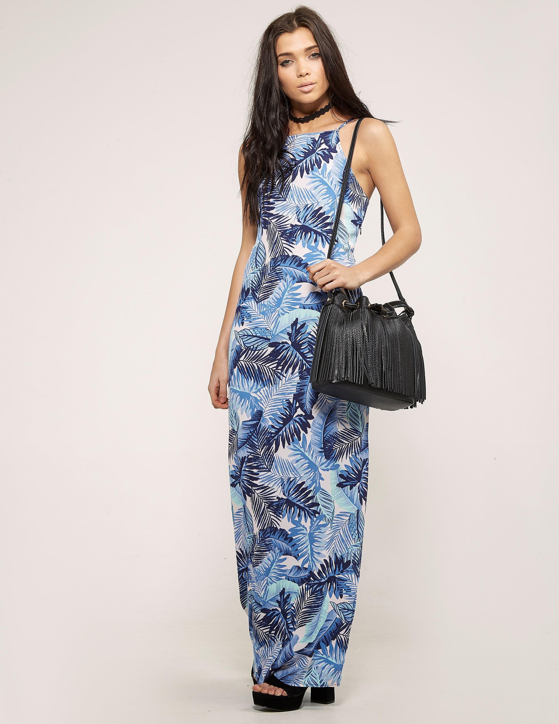 Juicy Couture Palm Leaves Maxi Dress