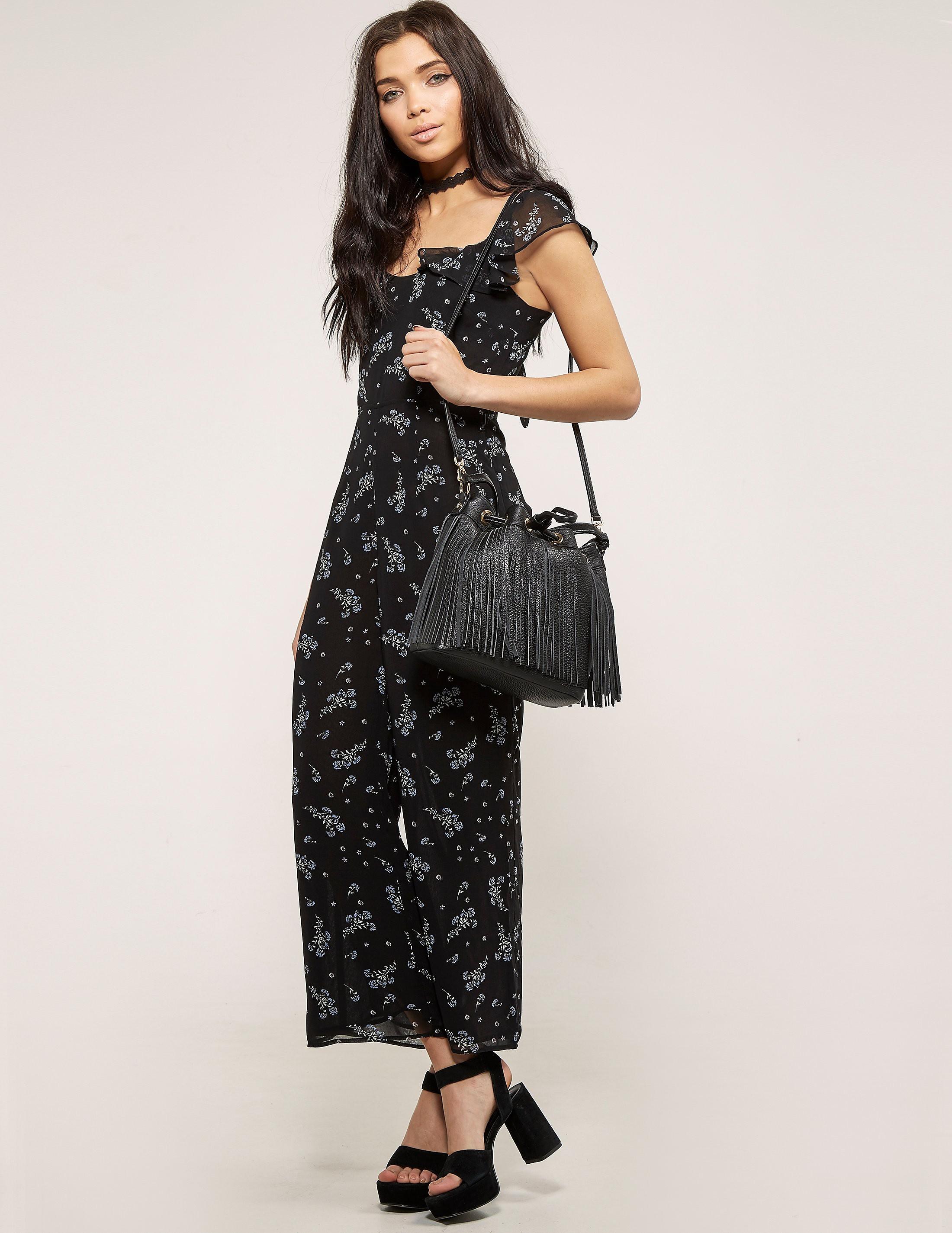 Juicy Couture Floral Woven Jumpsuit