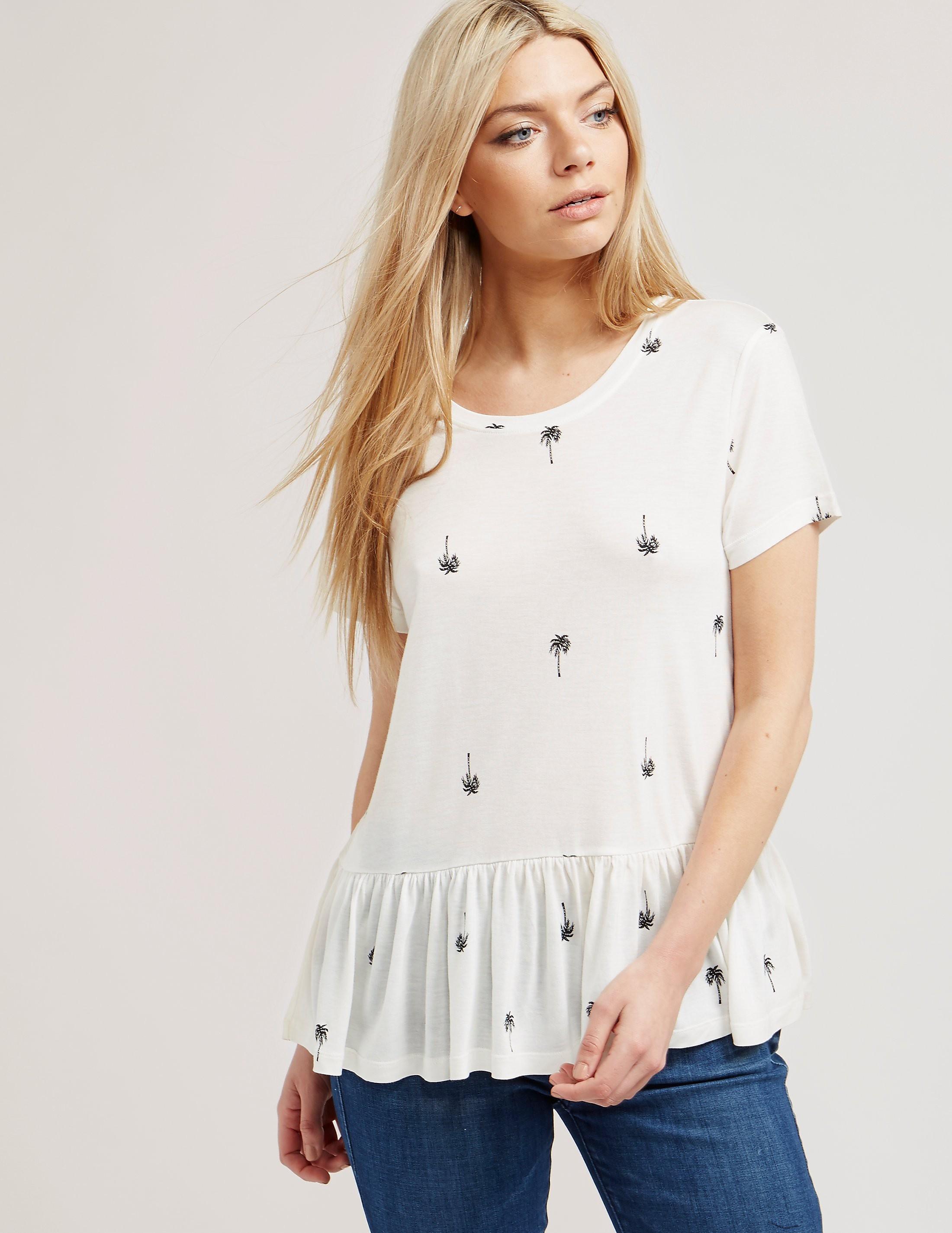 Juicy Couture Palm Peplum Top
